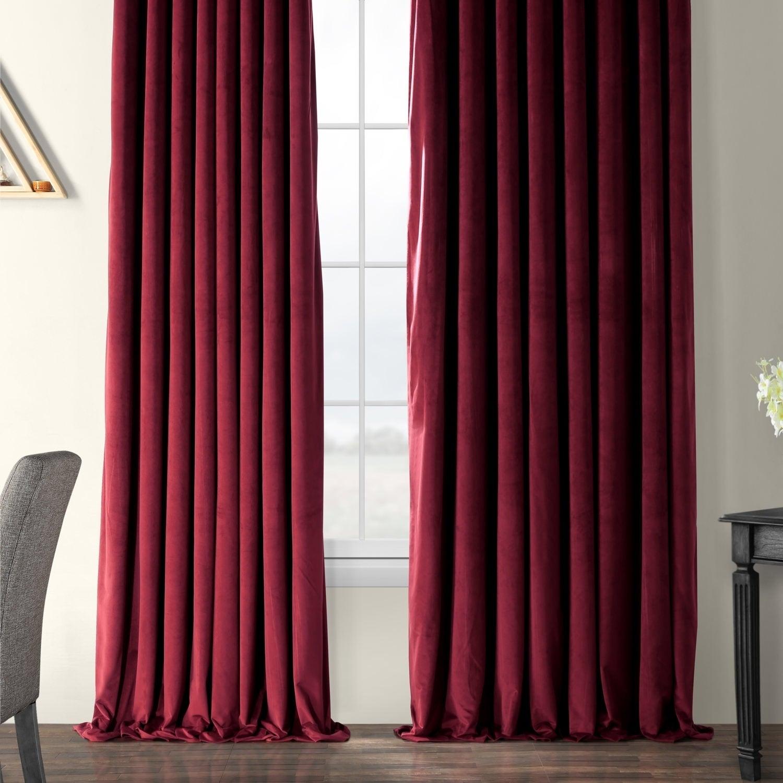 Signature Double Wide Velvet Blackout Curtain | Flisol Home Within Signature Ivory Velvet Blackout Single Curtain Panels (View 27 of 34)