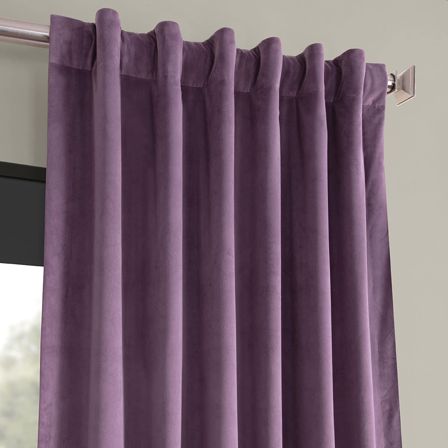 Signature Fresh Violet Blackout Velvet Curtain Throughout Signature Blackout Velvet Curtains (View 16 of 20)