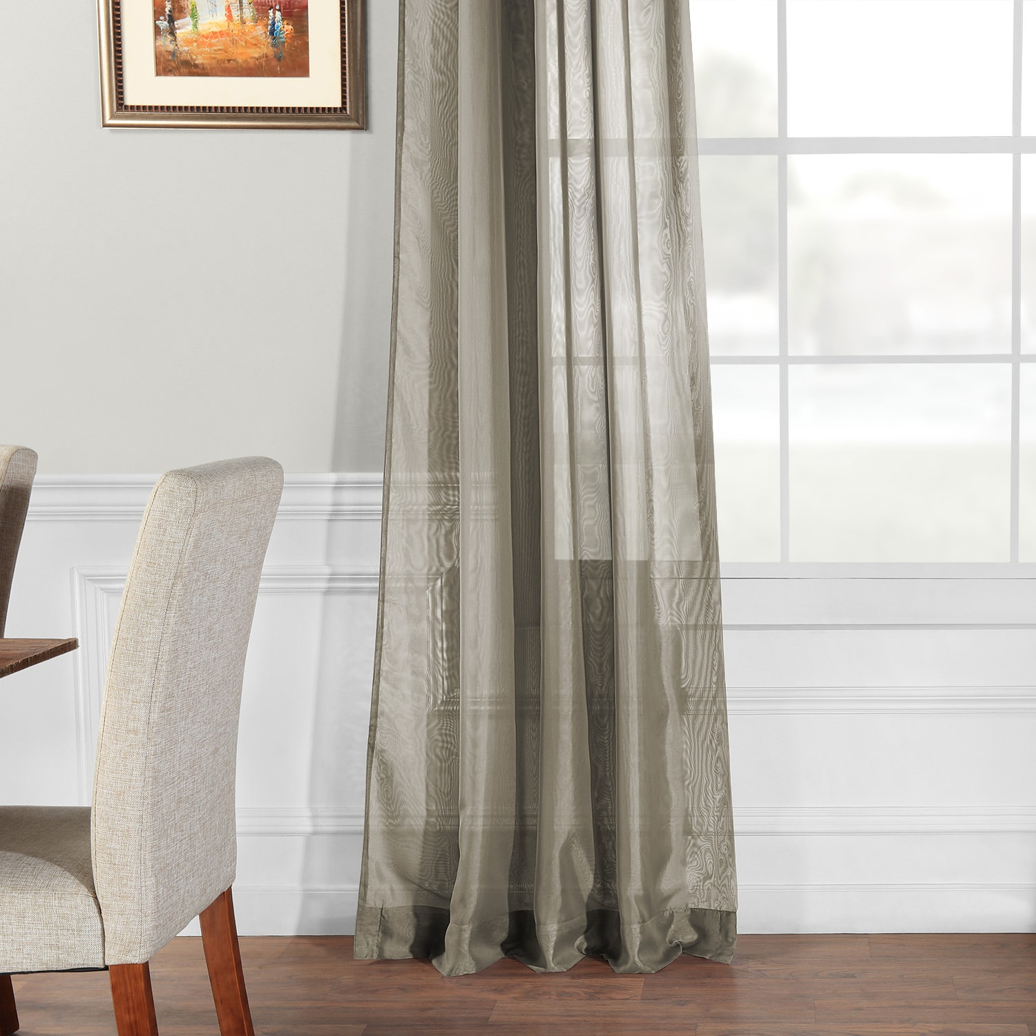 Signature Museum Grey Sheer Curtain With Regard To Signature White Double Layer Sheer Curtain Panels (View 26 of 30)