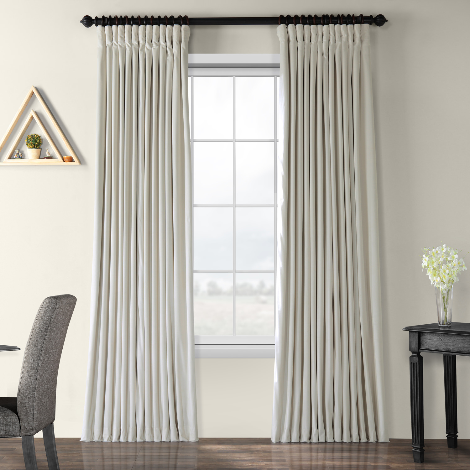 Silk Curtains And Drapes | Silk Curtain Shop For Signature White Double Layer Sheer Curtain Panels (View 27 of 30)