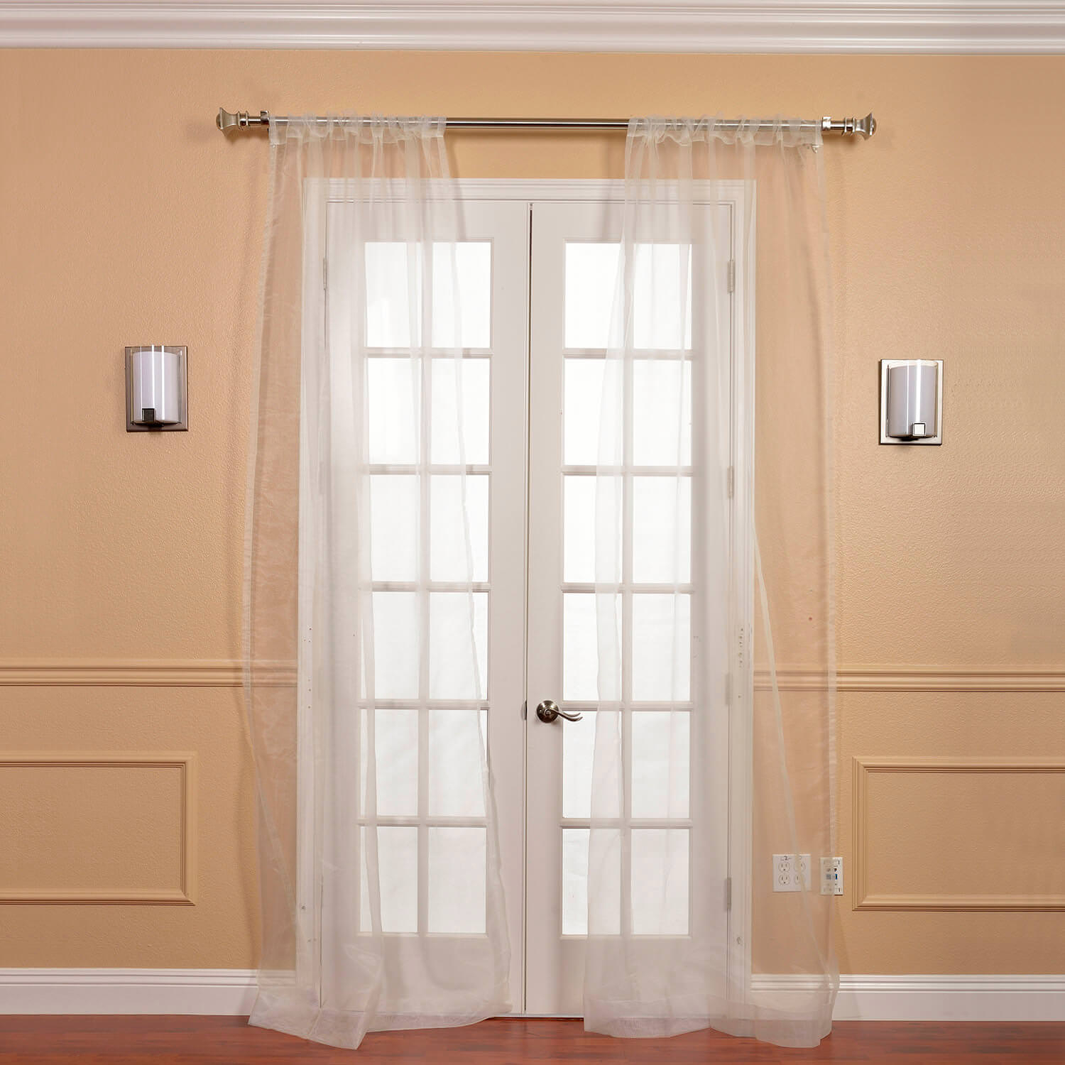 Silk Curtains And Drapes | Silk Curtain Shop Pertaining To Signature White Double Layer Sheer Curtain Panels (View 28 of 30)
