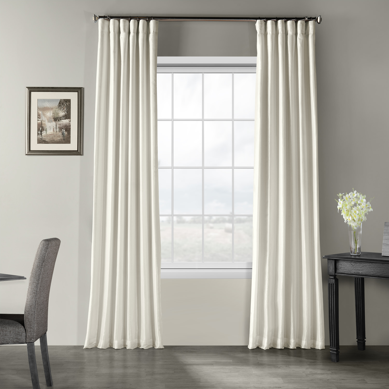 Silk Curtains And Drapes | Silk Curtain Shop Within Signature White Double Layer Sheer Curtain Panels (View 29 of 30)