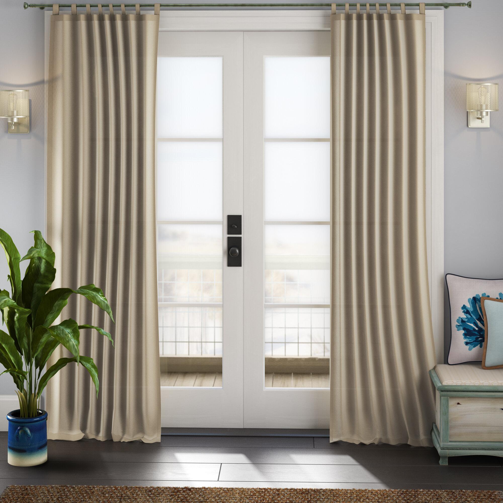 Sinead Indoor/outdoor Solid Room Darkening Tab Top Single Curtain Panel Throughout Matine Indoor/outdoor Curtain Panels (View 12 of 20)