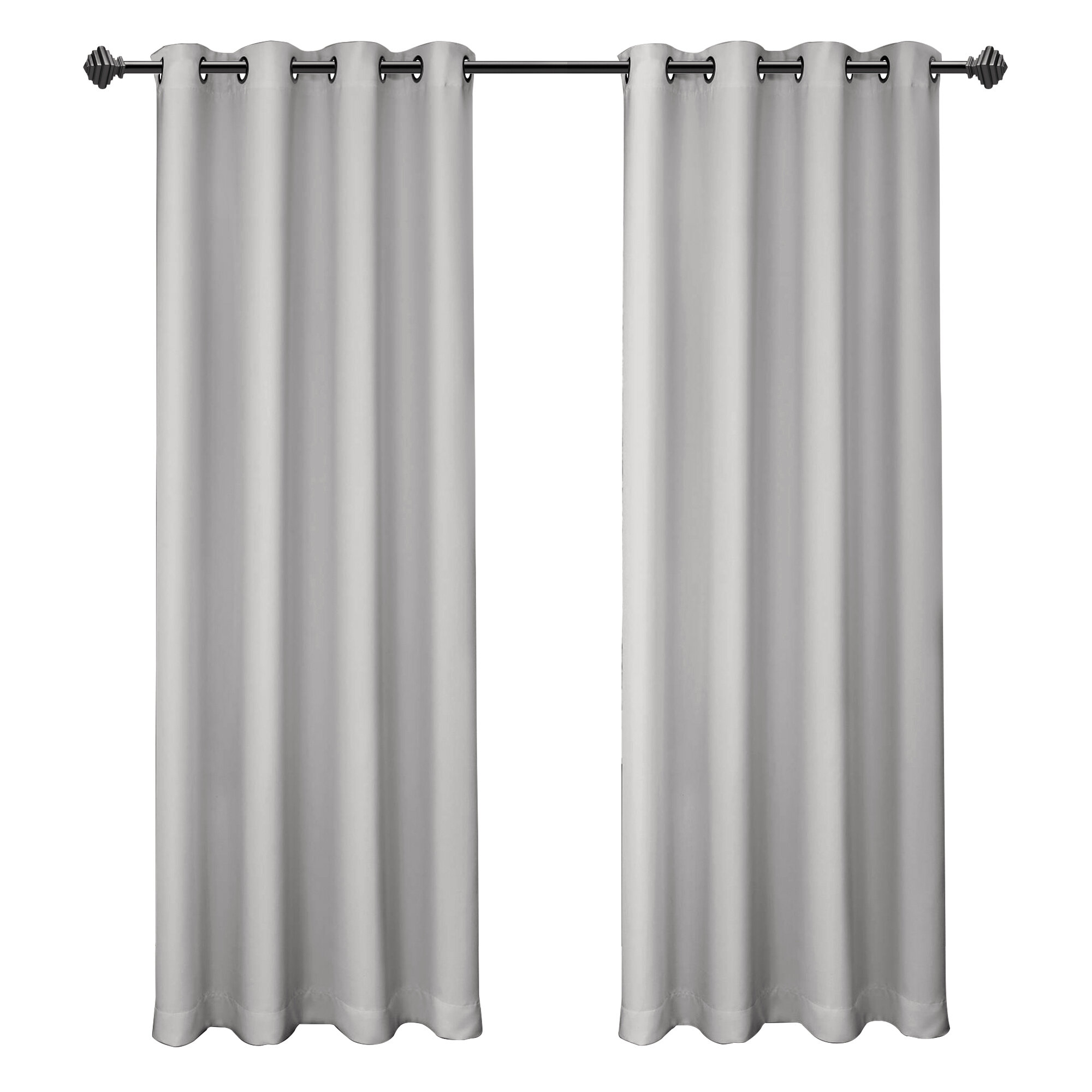 Siple Solid Blackout Thermal Insulated Grommet Single Curtain Panel With Regard To Superior Solid Insulated Thermal Blackout Grommet Curtain Panel Pairs (View 9 of 30)