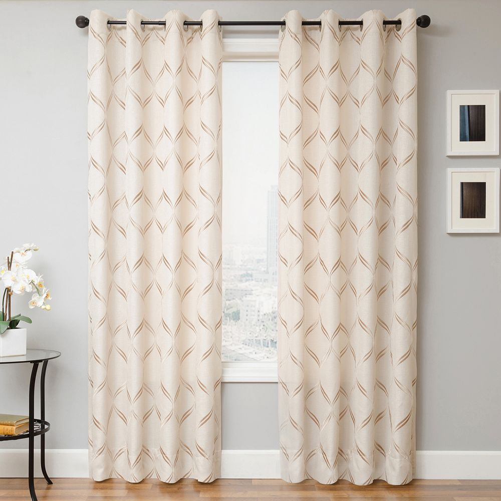 Softline Luanne Embroidered Window Panel | Products | Panel Pertaining To Softline Trenton Grommet Top Curtain Panels (View 23 of 30)