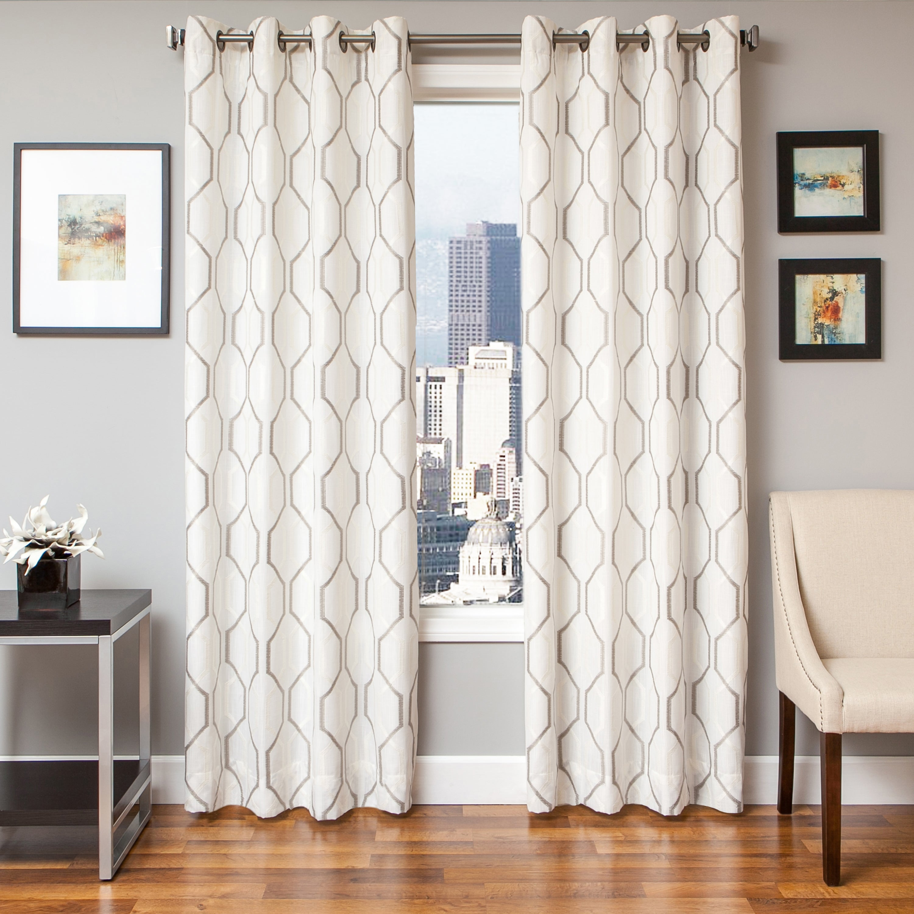 Softline Maxwell Lined Grommet Top Curtain Panel In Softline Trenton Grommet Top Curtain Panels (View 24 of 30)