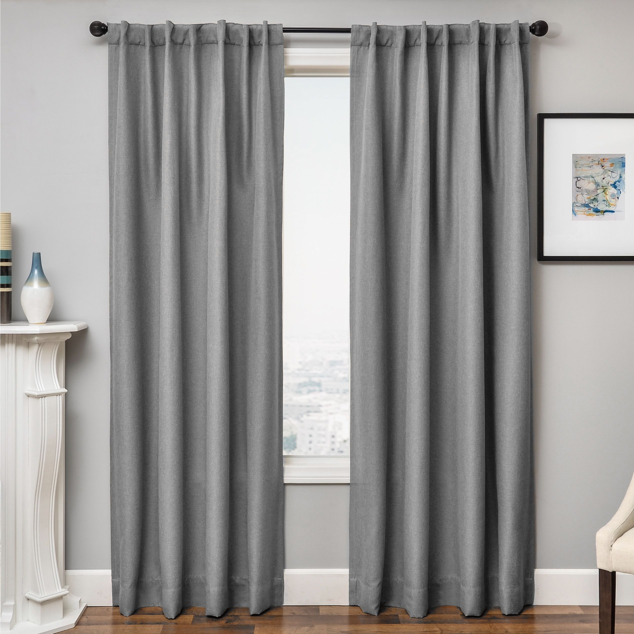 Softline Solara Faux Linen Blackout Curtain Panel (54x84 Inside Faux Linen Blackout Curtains (View 13 of 20)