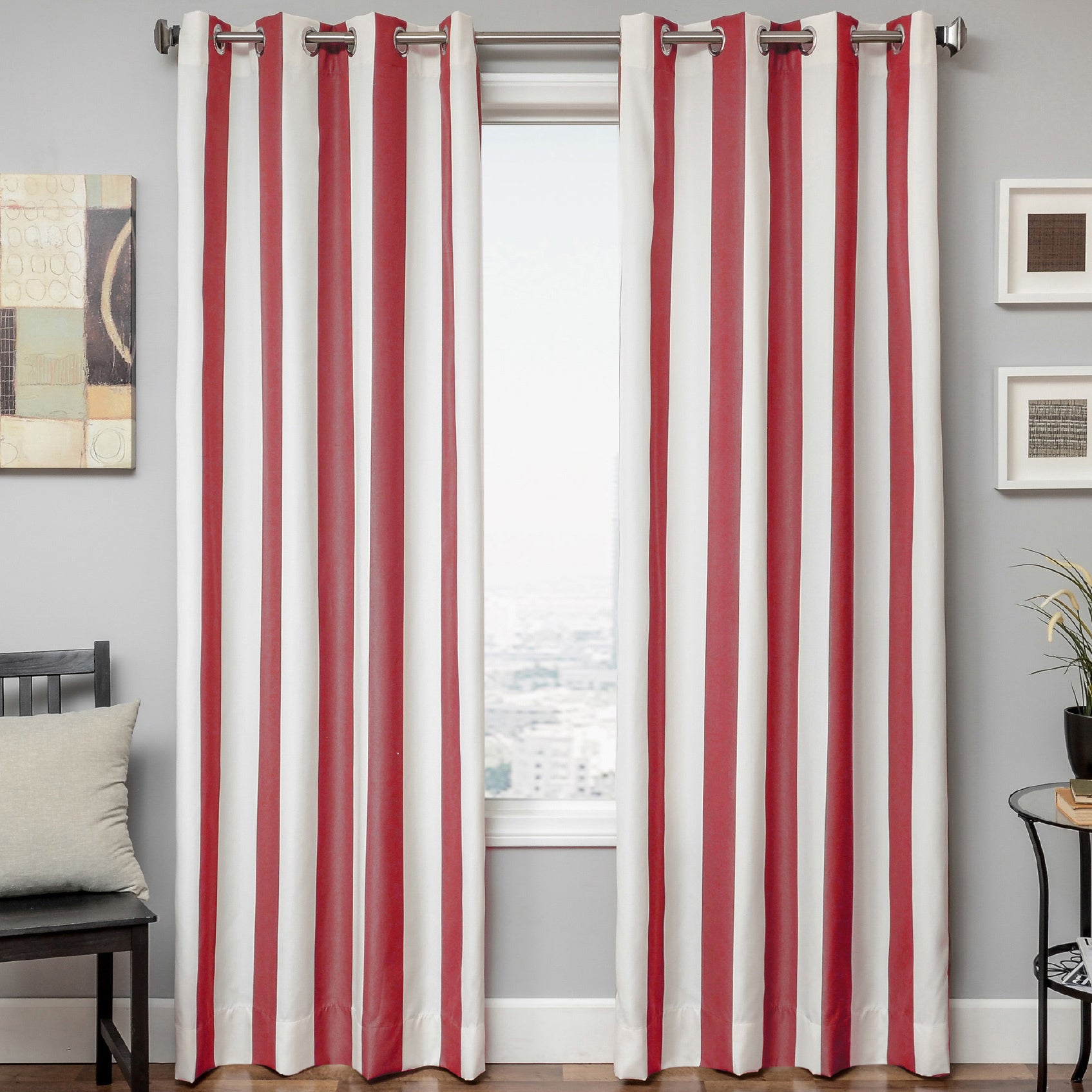 Softline Sunbrella Cabana Stripe Indoor/outdoor Curtain Panel For Valencia Cabana Stripe Indoor/outdoor Curtain Panels (View 21 of 30)