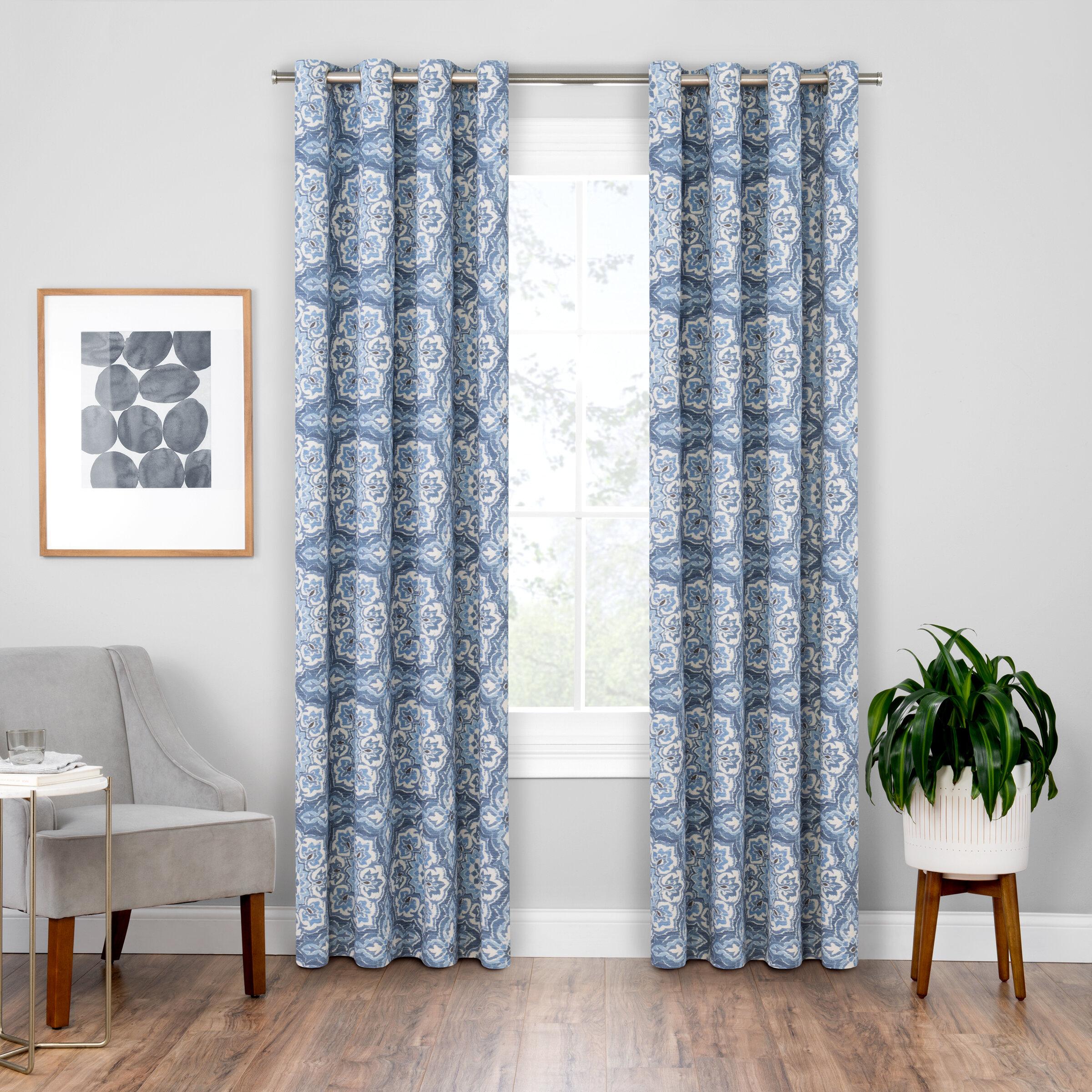 Soleil Floral Blackout Grommet Curtain Panels Regarding Blackout Grommet Curtain Panels (View 19 of 20)