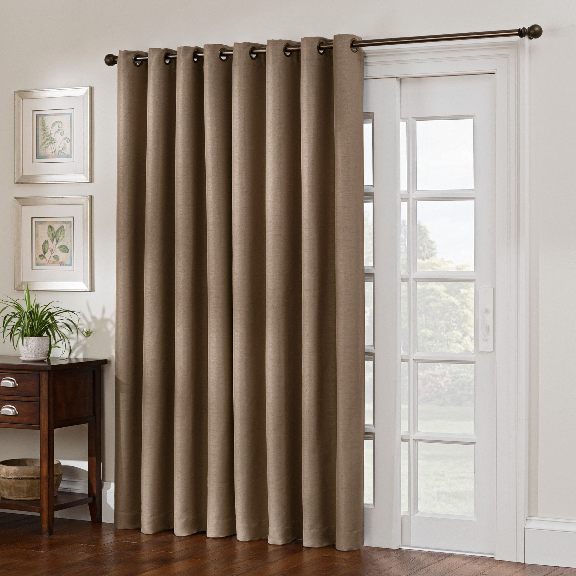 Solid Blackout Grommet Single Curtain Panel | Products With Regard To Copper Grove Fulgence Faux Silk Grommet Top Panel Curtains (View 14 of 20)