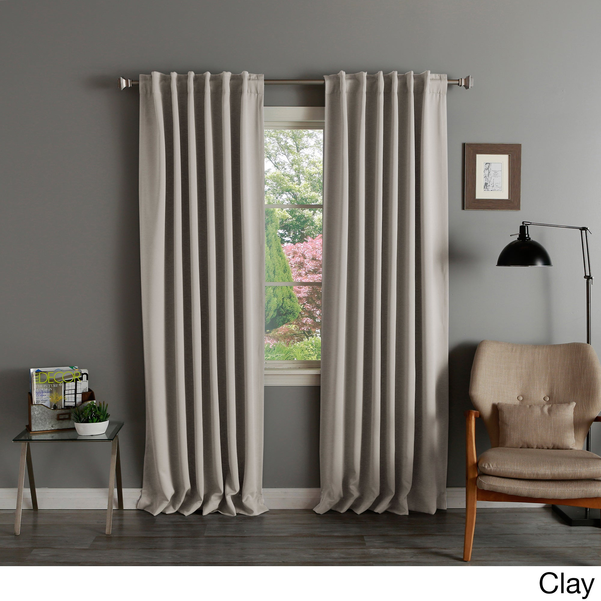 Solid Insulated Thermal Blackout Curtain Panel Pair Intended For Thermal Rod Pocket Blackout Curtain Panel Pairs (View 3 of 30)