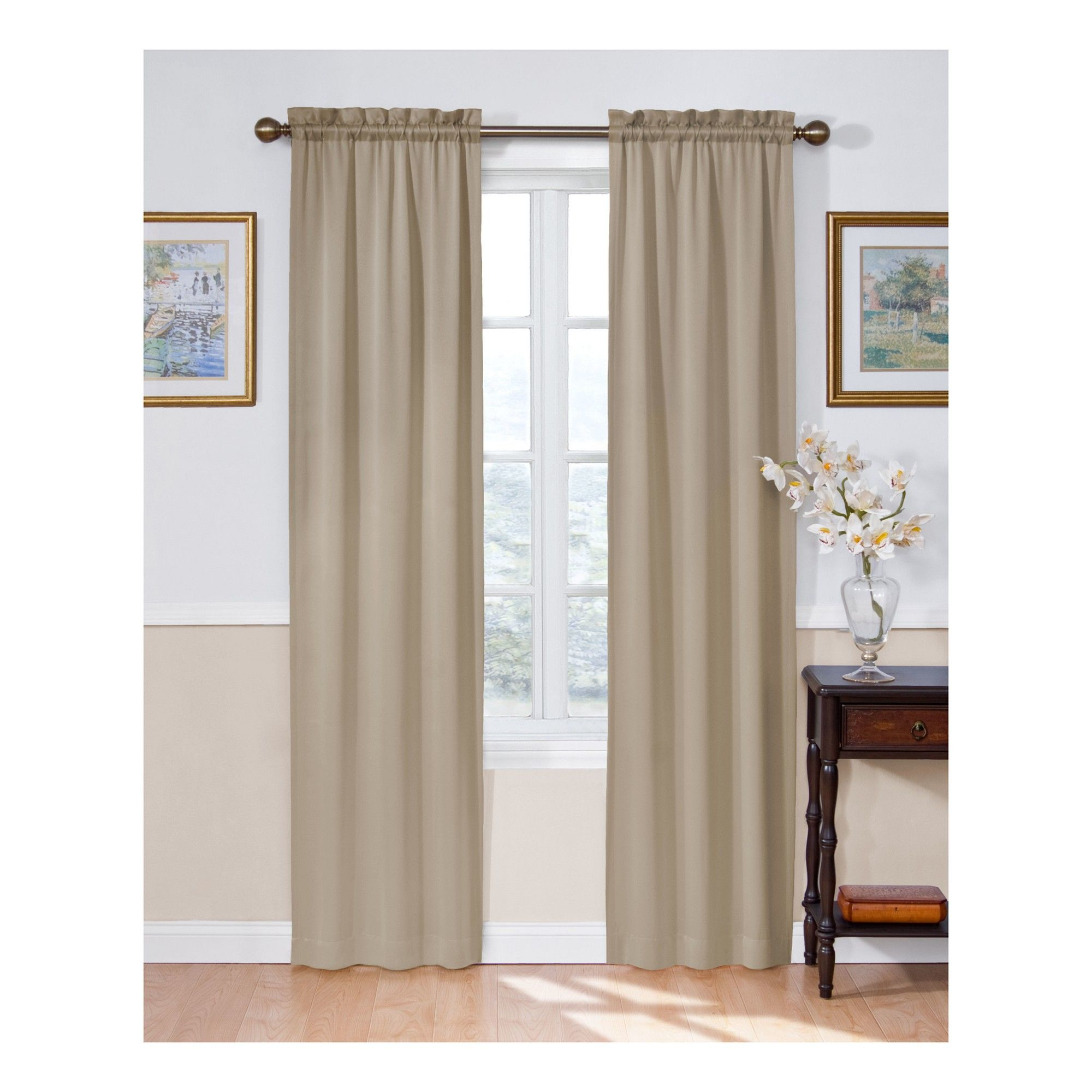Solid Thermapanel Room Darkening Curtain Taupe (brown) 54x63 Throughout Eclipse Solid Thermapanel Room Darkening Single Panel (View 14 of 20)