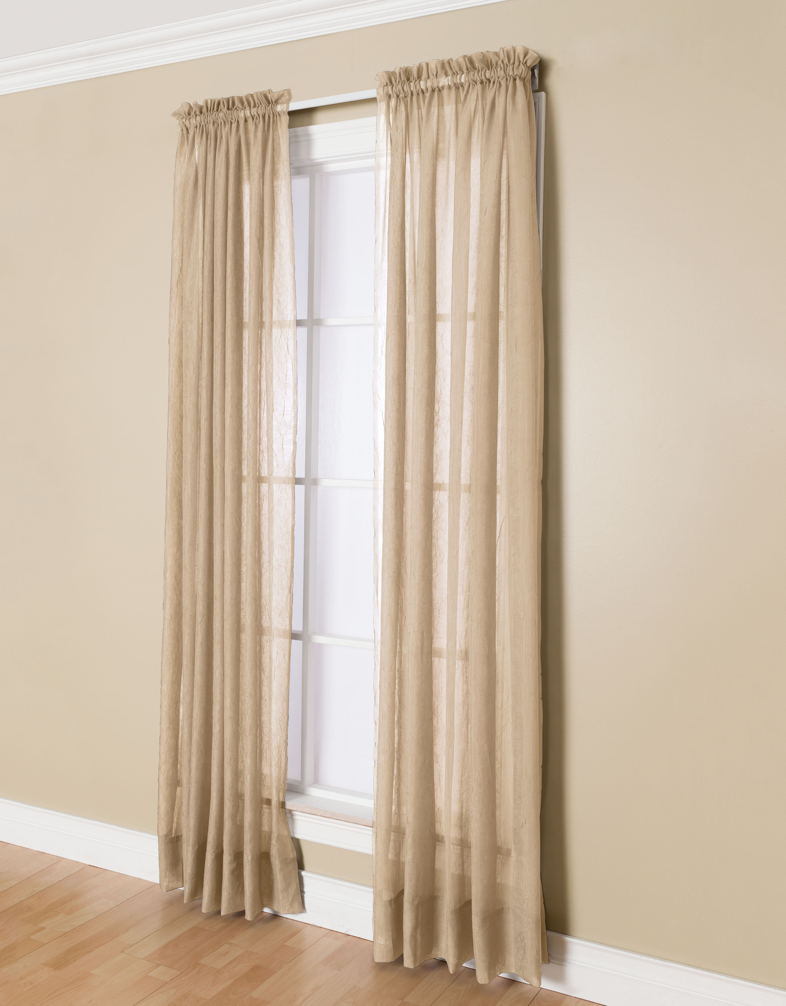 Solunar Solid Sheer Rod Pocket Single Curtain Panel Pertaining To Light Filtering Sheer Single Curtain Panels (View 10 of 20)