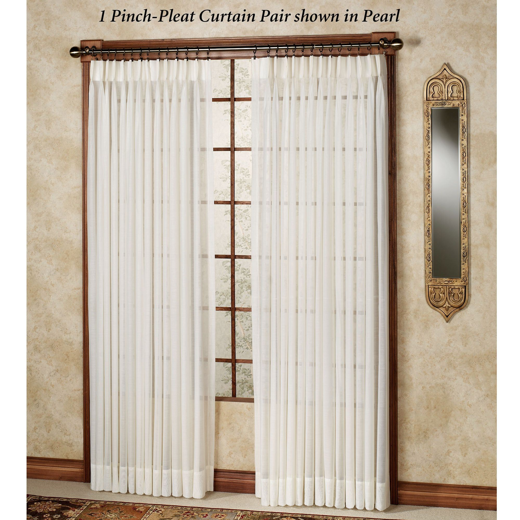 Splendor Semi Sheer Pinch Pleat Drapery Curtain Pair Throughout Double Pinch Pleat Top Curtain Panel Pairs (View 16 of 20)