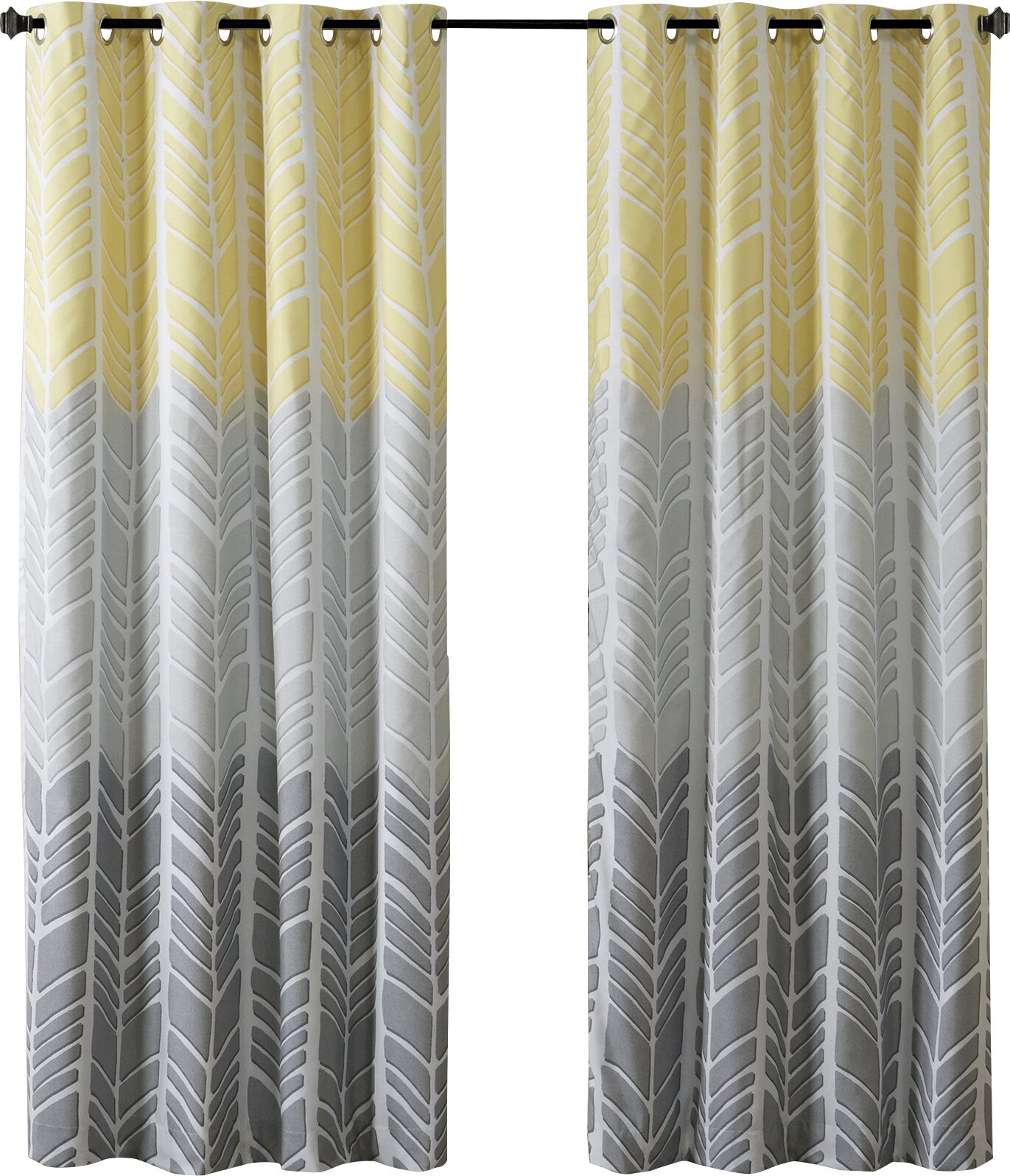 Stansel Chevron Max Blackout Grommet Single Curtain Panel Pertaining To Chevron Blackout Grommet Curtain Panels (View 17 of 20)