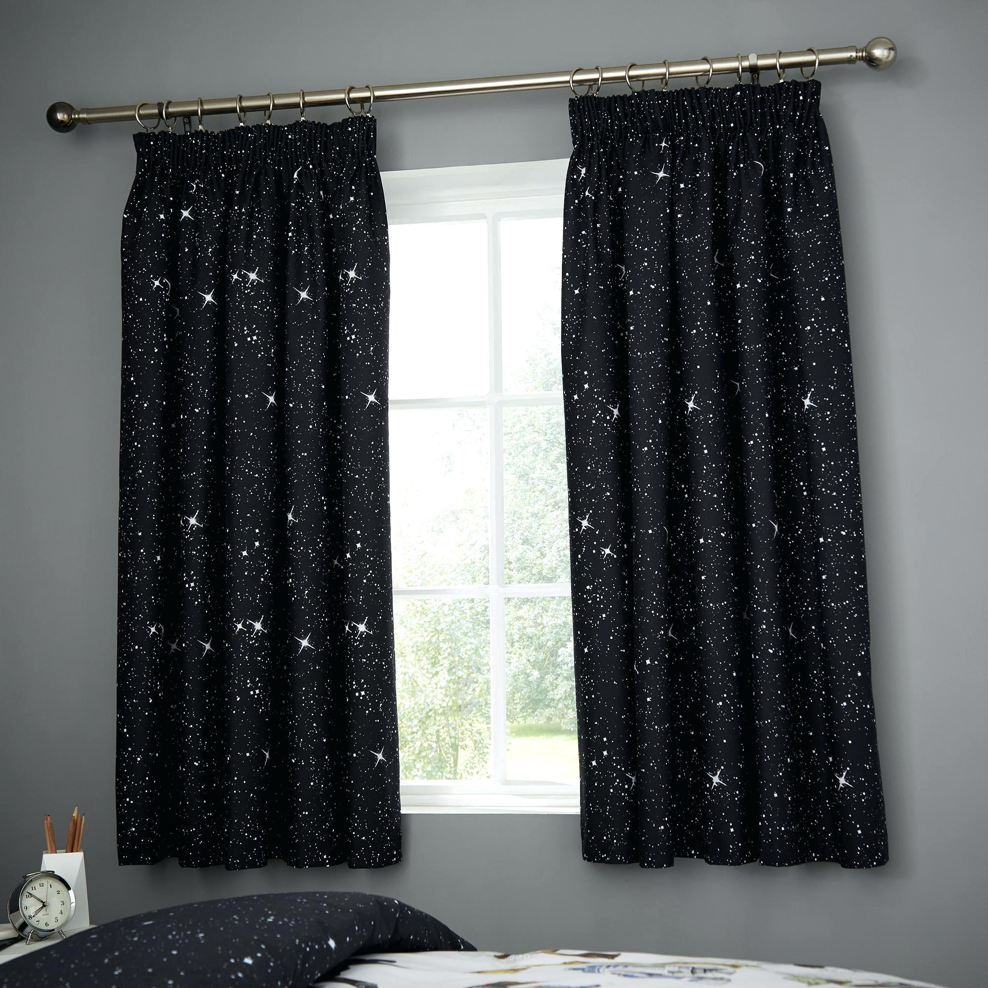 Star Curtains For Star Punch Tulle Overlay Blackout Curtain Panel Pairs (View 17 of 30)