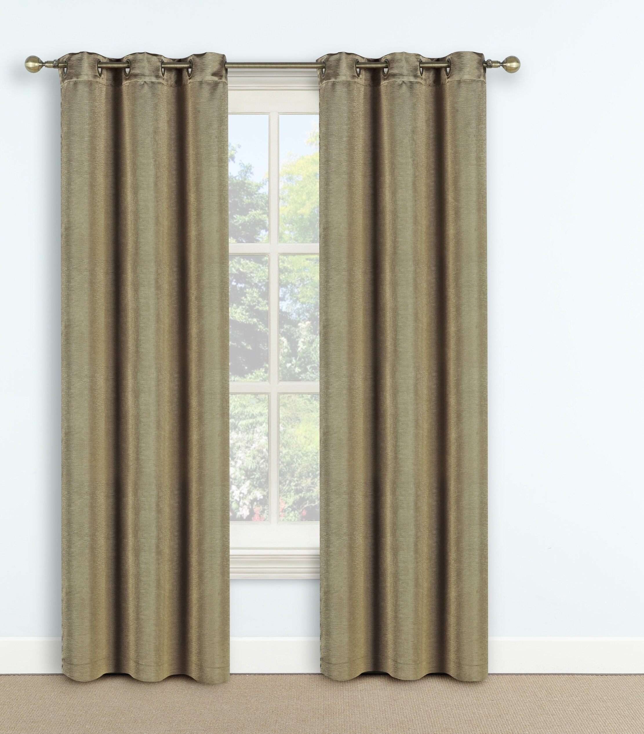 Steubenville Solid Max Blackout Thermal Grommet Single Curtain Panel Throughout Luxury Collection Faux Leather Blackout Single Curtain Panels (View 7 of 20)