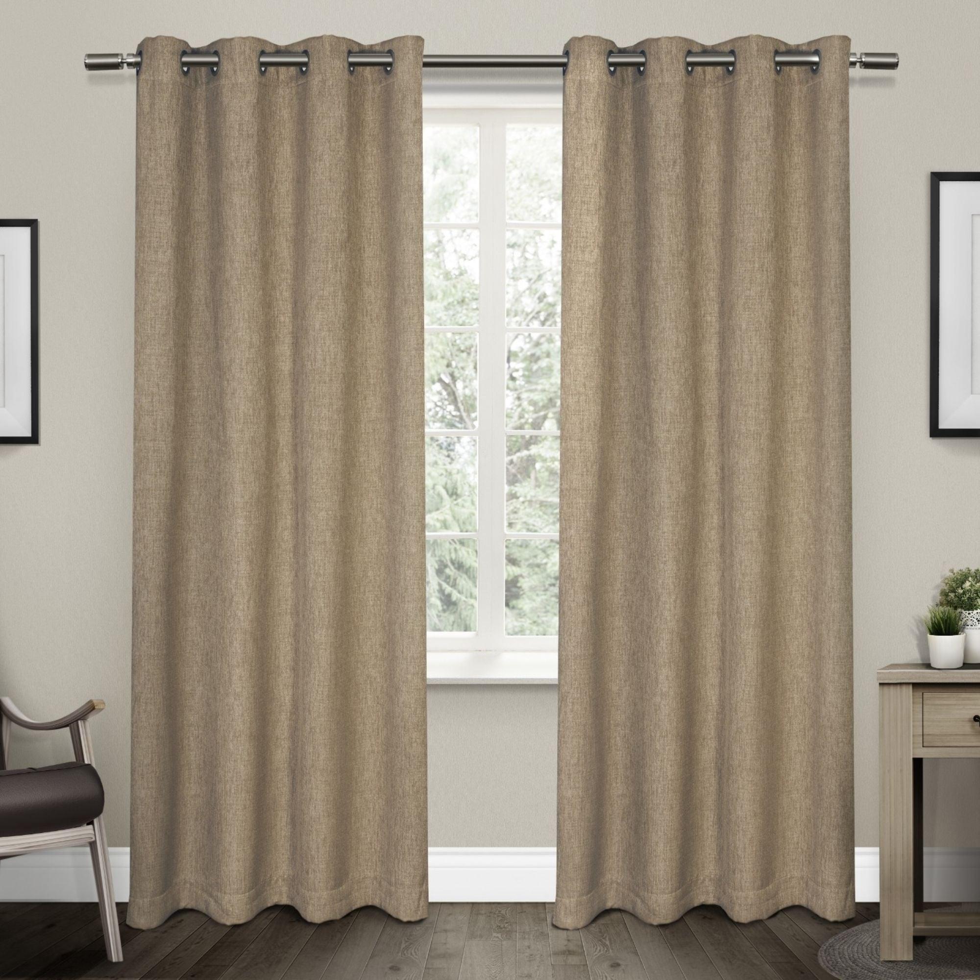 Strick & Bolton Laurette Linen Woven Blackout Grommet Top Curtain Panel Pair With Woven Blackout Grommet Top Curtain Panel Pairs (View 15 of 30)