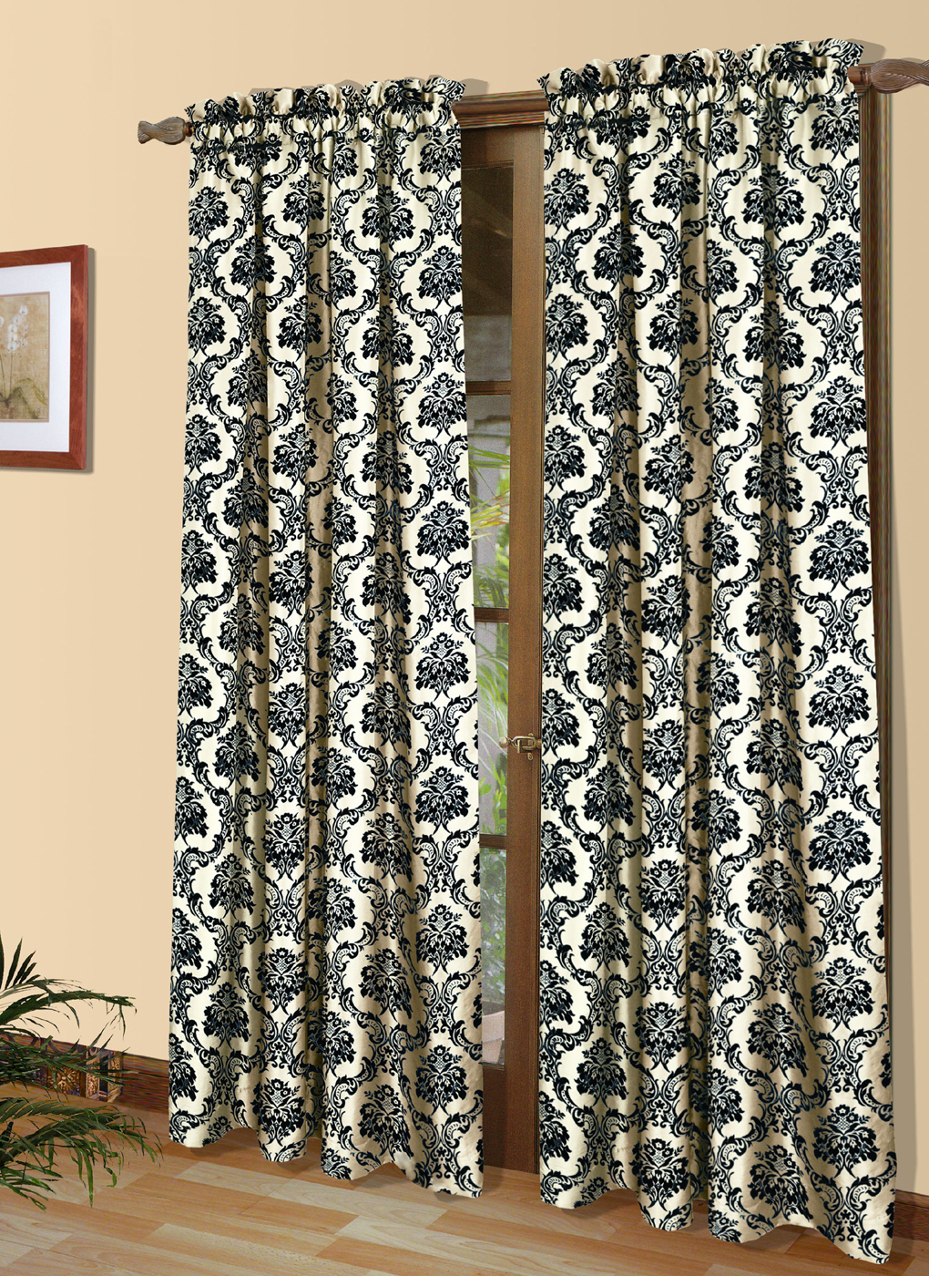 Sumatra Thermal And Room Darkening Rod Pocket Panel – Thermalogic Pertaining To Signature White Double Layer Sheer Curtain Panels (View 30 of 30)
