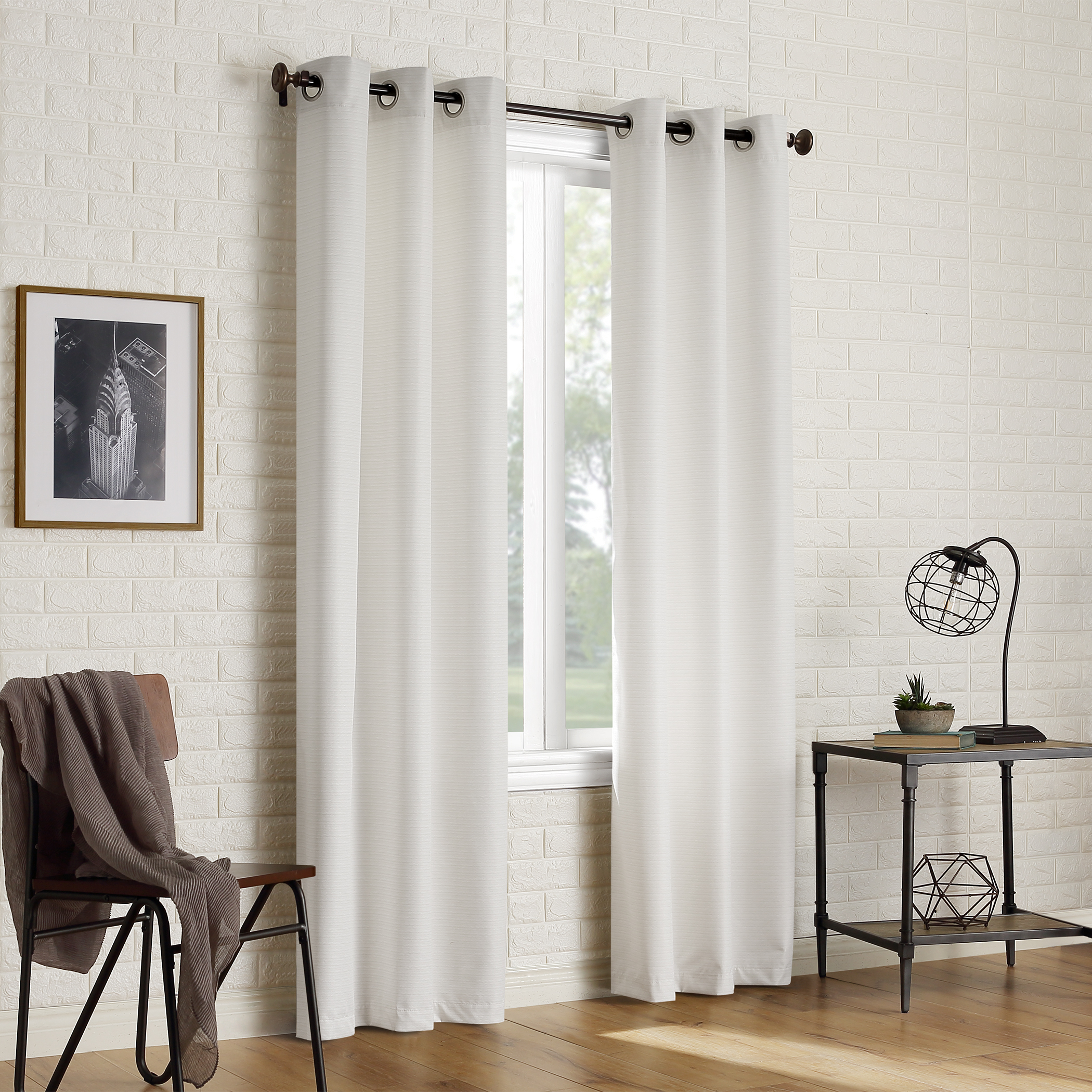 Sun Zero 2 Pack Arlo Textured Thermal Insulated Grommet In Insulated Cotton Curtain Panel Pairs (View 15 of 20)