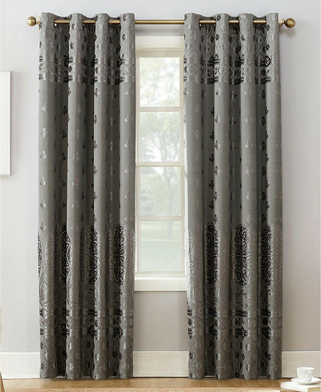 """Sun Zero 50"""" X 95"""" Curtain Panel Elidah Energy Efficient Blackout Grommet E93099 Throughout Hayden Grommet Blackout Single Curtain Panels (View 20 of 20)"""