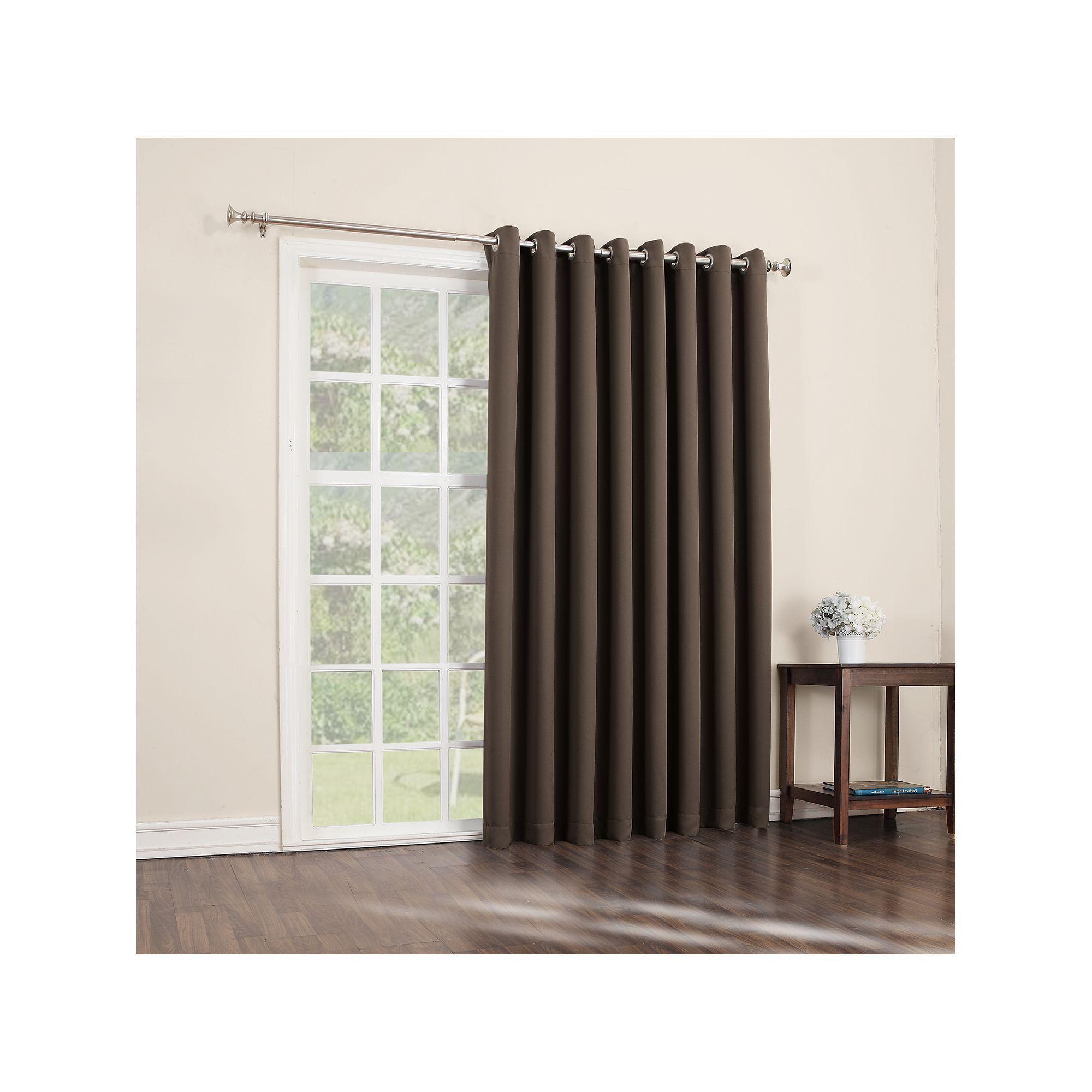 Sun Zero Blackout 1 Panel Ludlow Patio Door Window Curtain Regarding Grommet Blackout Patio Door Window Curtain Panels (View 3 of 20)