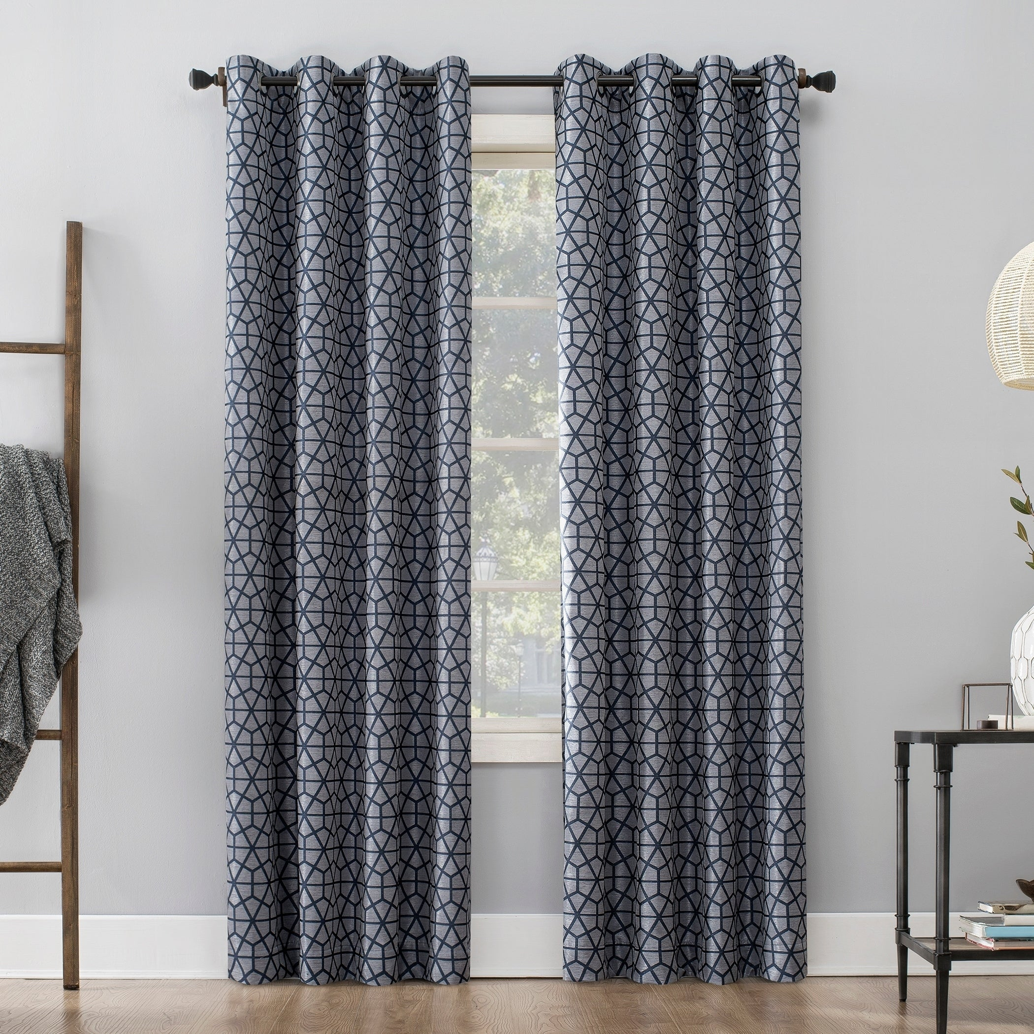 Sun Zero Burke Twill Mosaic Extreme 100% Blackout Grommet Curtain Panel With Embossed Thermal Weaved Blackout Grommet Drapery Curtains (View 7 of 20)