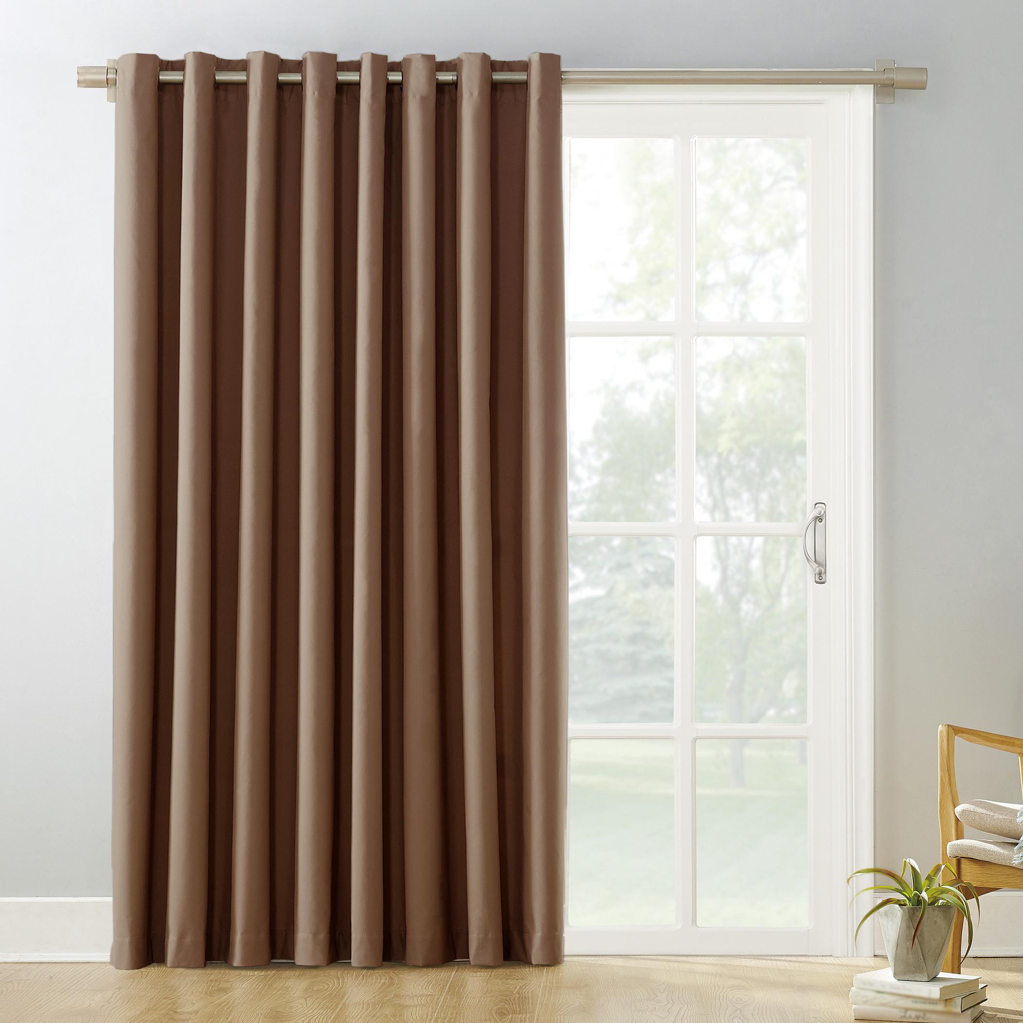 Featured Photo of Grommet Blackout Patio Door Window Curtain Panels