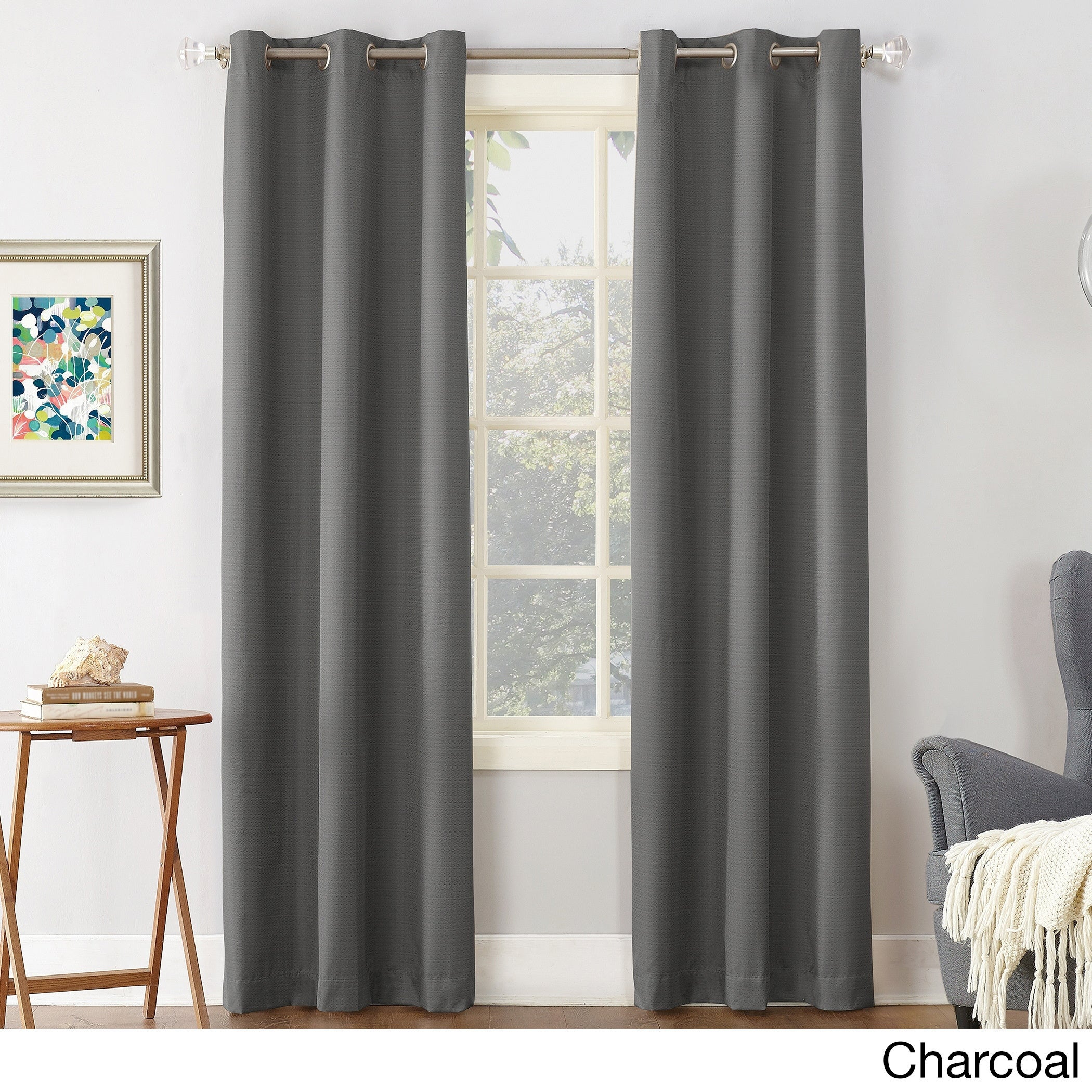Featured Photo of Cooper Textured Thermal Insulated Grommet Curtain Panels