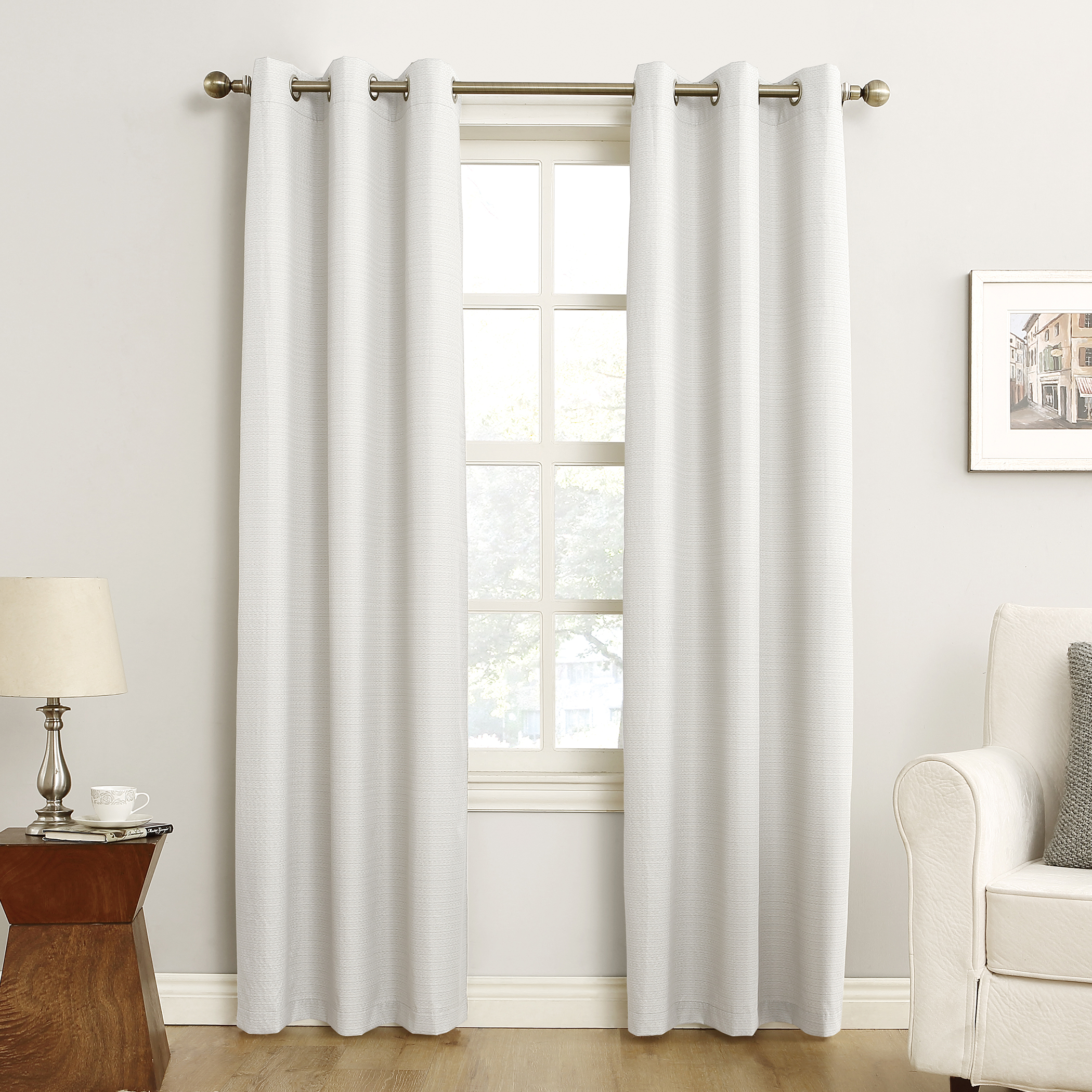 Sun Zero Cooper Textured Thermal Lined Room Darkening Energy Efficient Grommet Curtain Panel With Cooper Textured Thermal Insulated Grommet Curtain Panels (View 5 of 20)