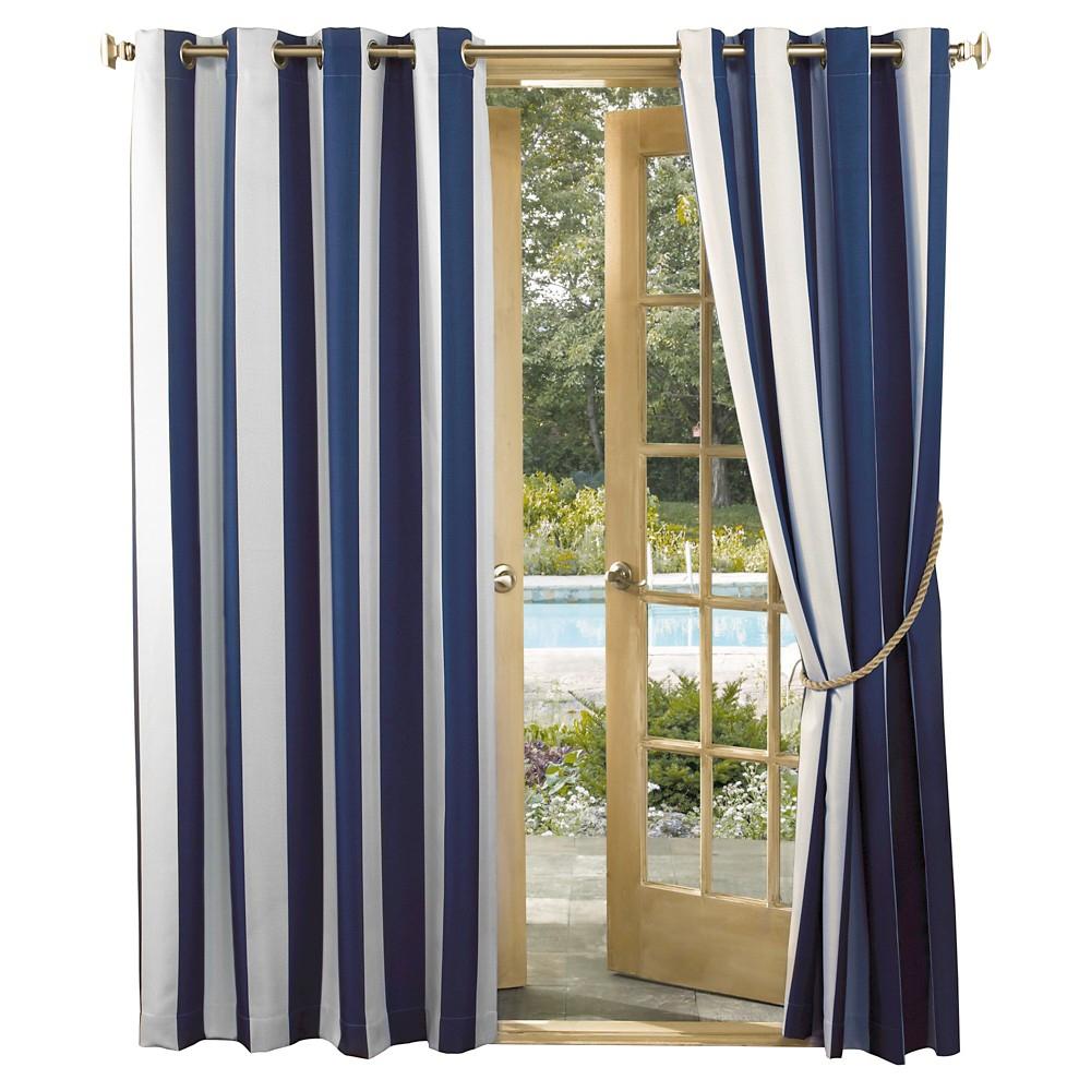 Sun Zero Dunham Striped Uv Protectant Indoor/outdoor Curtain For Valencia Cabana Stripe Indoor/outdoor Curtain Panels (View 19 of 30)