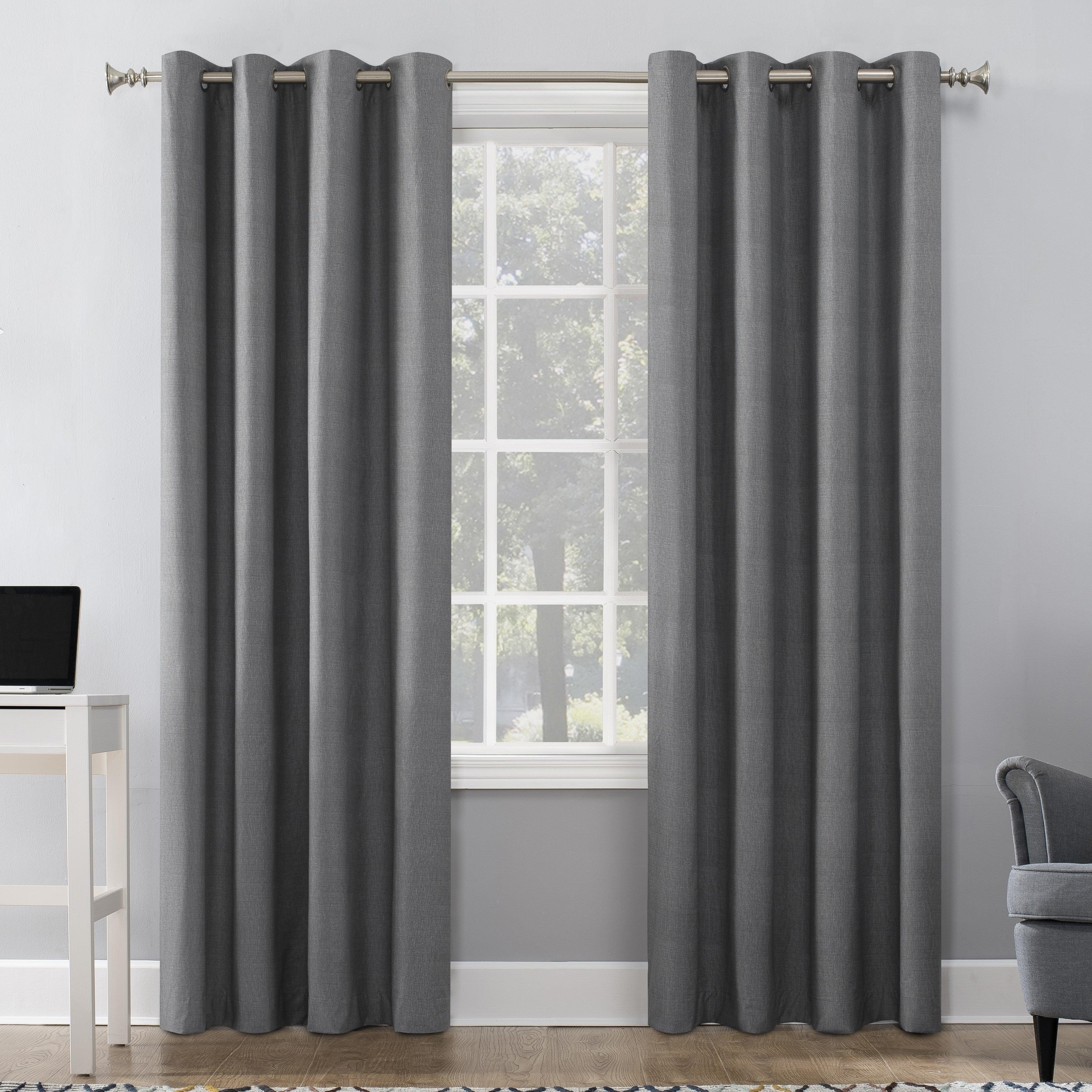 Sun Zero Duran Thermal Insulated 100% Blackout Grommet Curtain Panel With Regard To Hayden Grommet Blackout Single Curtain Panels (View 9 of 20)