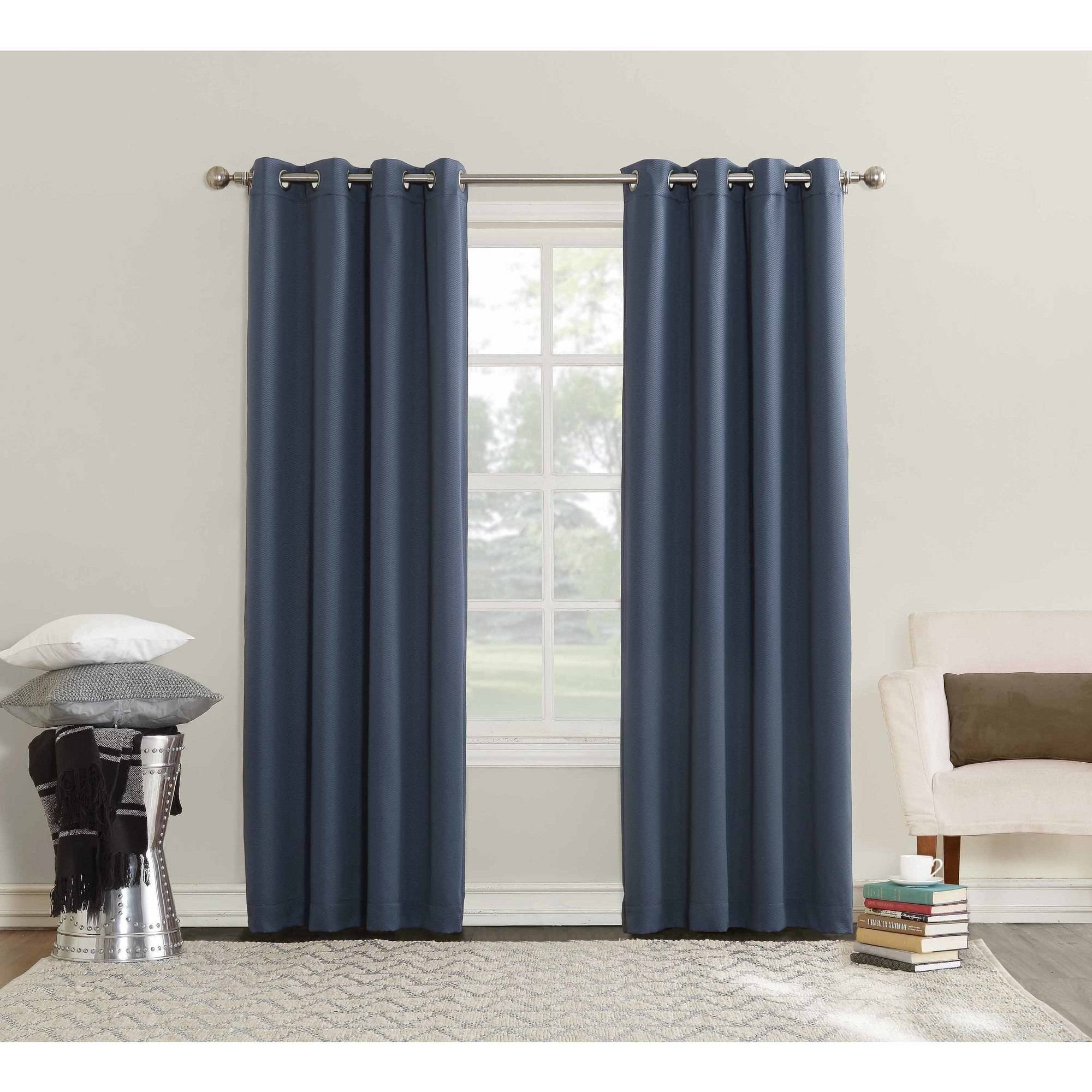 Sun Zero Ella Room Darkening Triple Lined Grommet Curtain Panel Regarding Ella Window Curtain Panels (View 19 of 20)