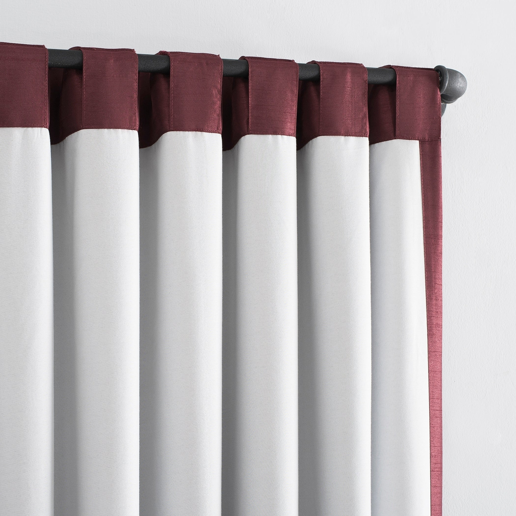 Sun Zero Evelina Faux Dupioni Silk Extreme 100% Blackout Back Tab Curtain Panel With Regard To Evelina Faux Dupioni Silk Extreme Blackout Back Tab Curtain Panels (View 9 of 20)