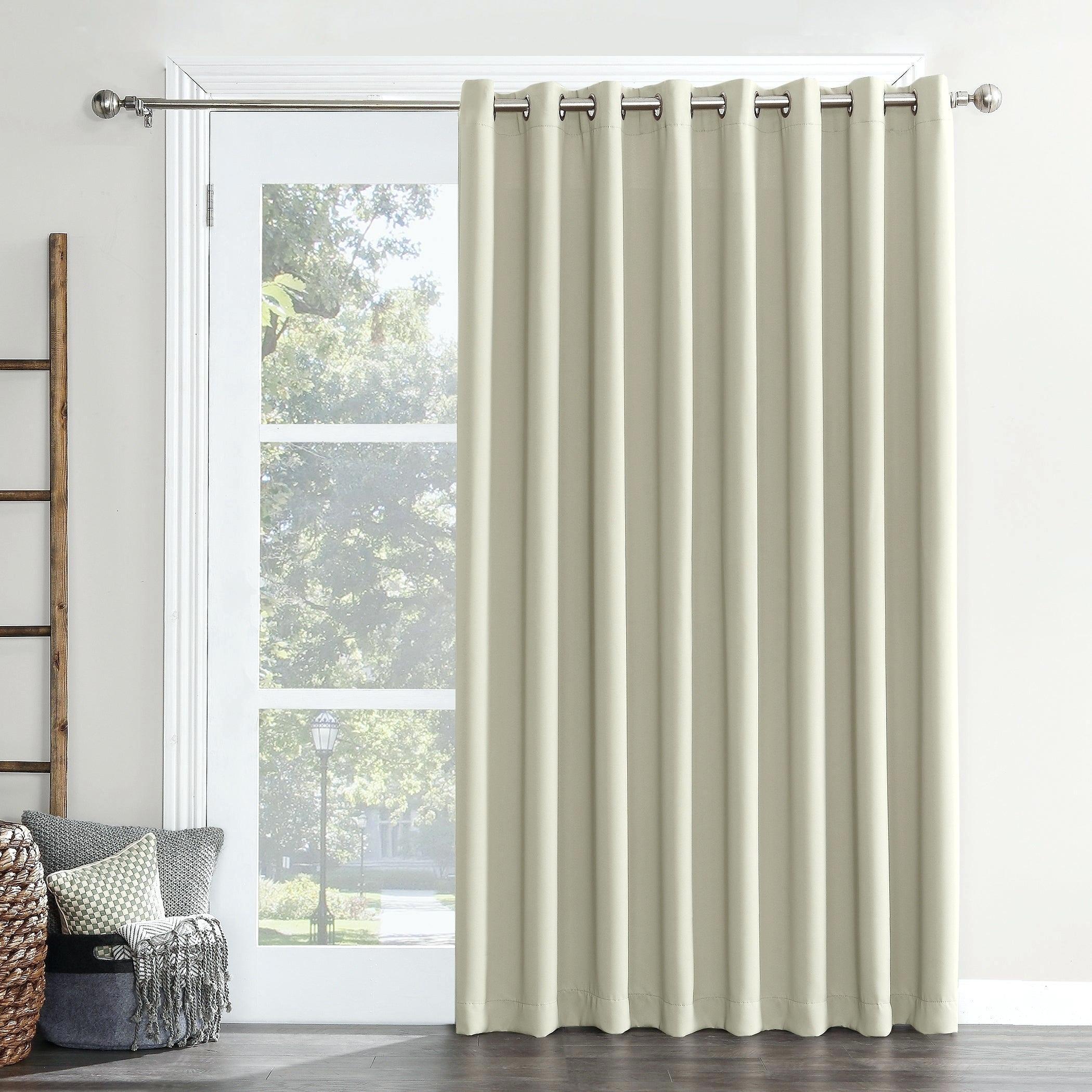 Sun Zero Grommet Blackout Patio Door Window Curtain Panel Intended For Grommet Blackout Patio Door Window Curtain Panels (View 6 of 20)