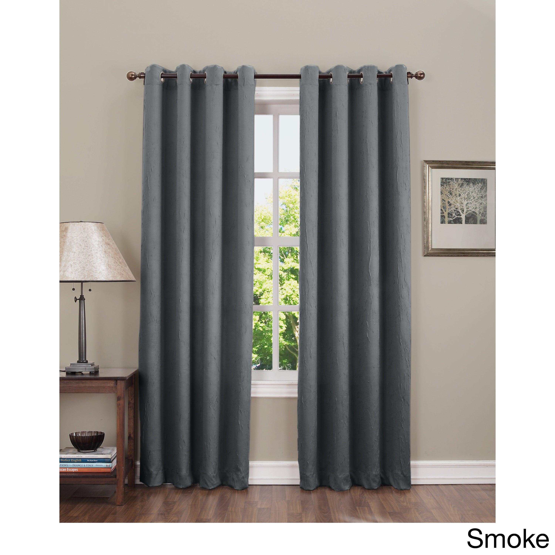 Sun Zero Hanson Crushed Grommet Room Darkening Single Curtain Panel With Regard To Hayden Grommet Blackout Single Curtain Panels (View 5 of 20)