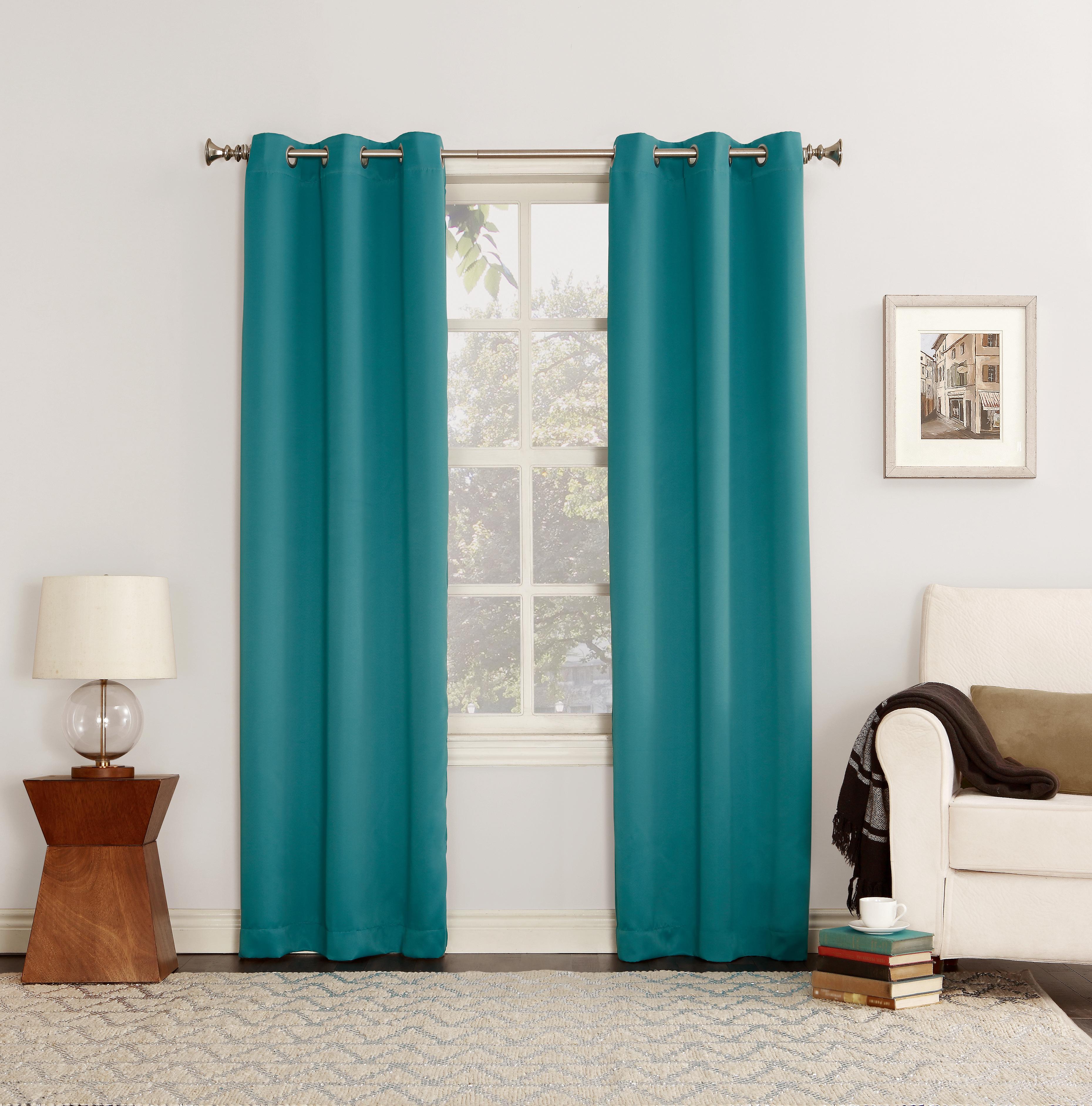 Sun Zero Hayden Grommet Blackout Single Curtain Panel With Regard To Hayden Grommet Blackout Single Curtain Panels (View 7 of 20)