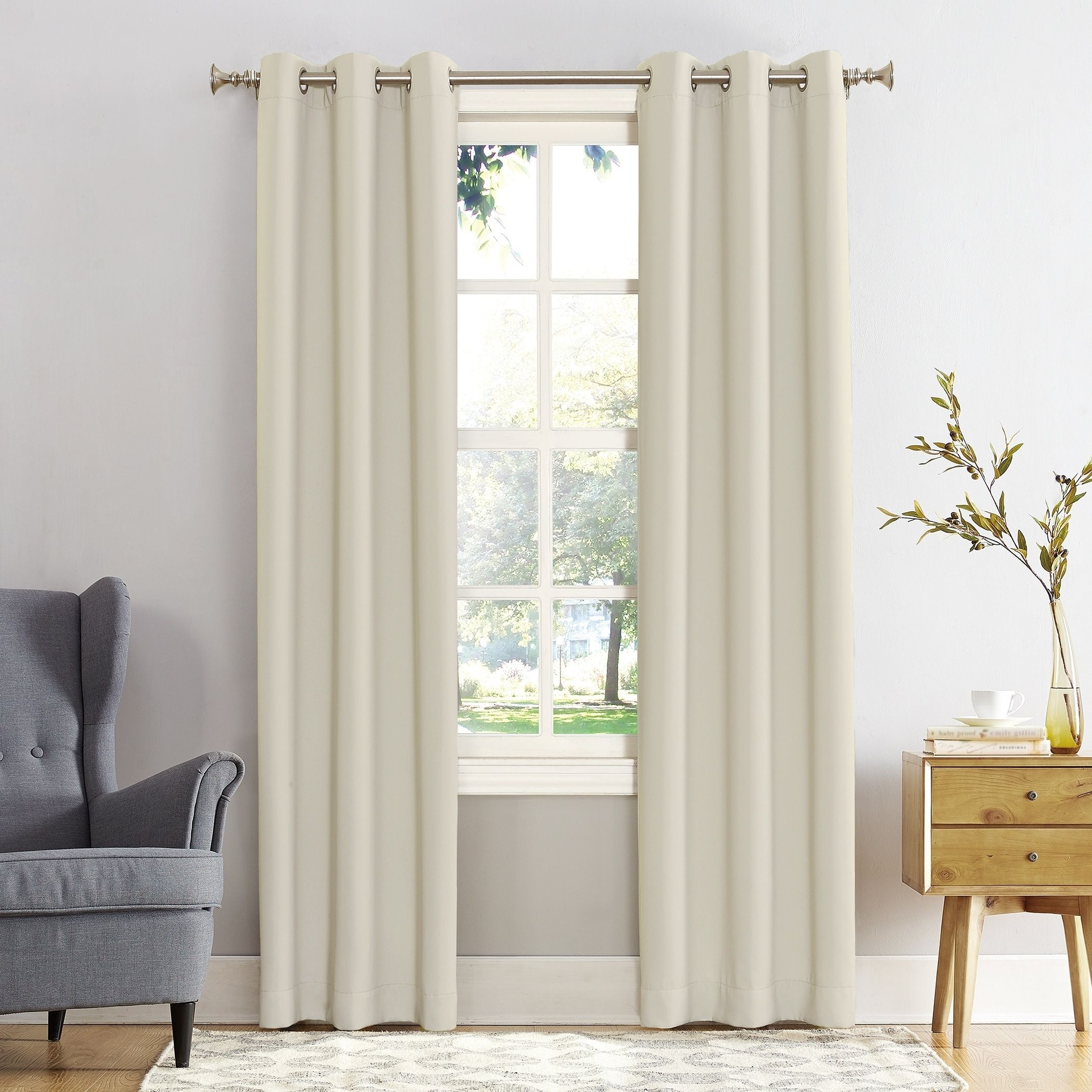 Sun Zero Hayden Grommet Blackout Window Curtain Panel (pearl In Hayden Rod Pocket Blackout Panels (View 17 of 20)