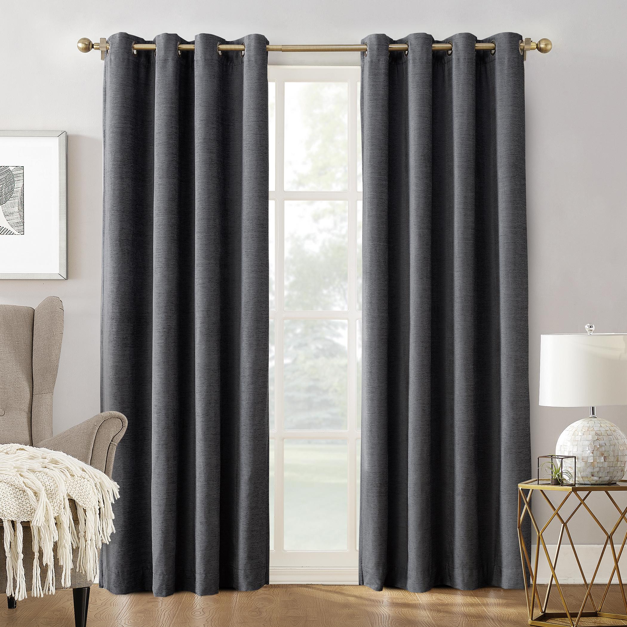 Sun Zero Manor Chenille Velvet 100% Extreme Blackout Grommet Intended For Signature Ivory Velvet Blackout Single Curtain Panels (View 32 of 34)