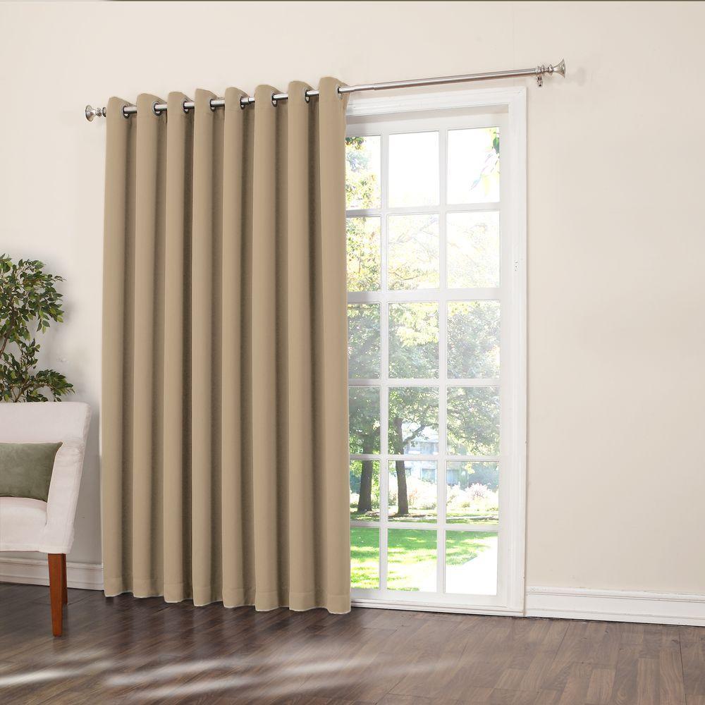 Sun Zero Semi Opaque Taupe Gregory Room Darkening Grommet Intended For Grommet Blackout Patio Door Window Curtain Panels (View 8 of 20)