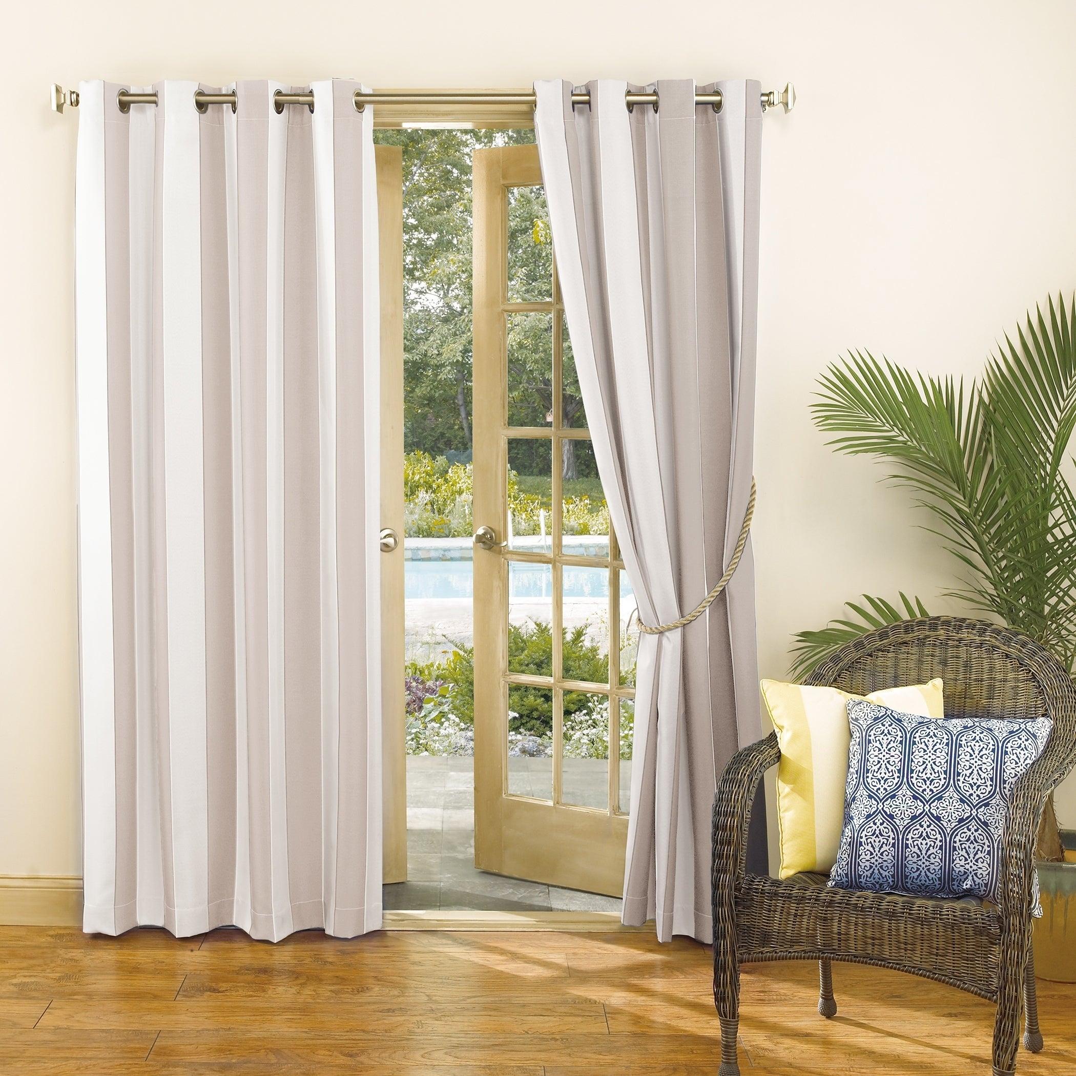 Sun Zero Valencia Cabana Stripe Indoor/outdoor Curtain Panel In Valencia Cabana Stripe Indoor/outdoor Curtain Panels (View 3 of 30)