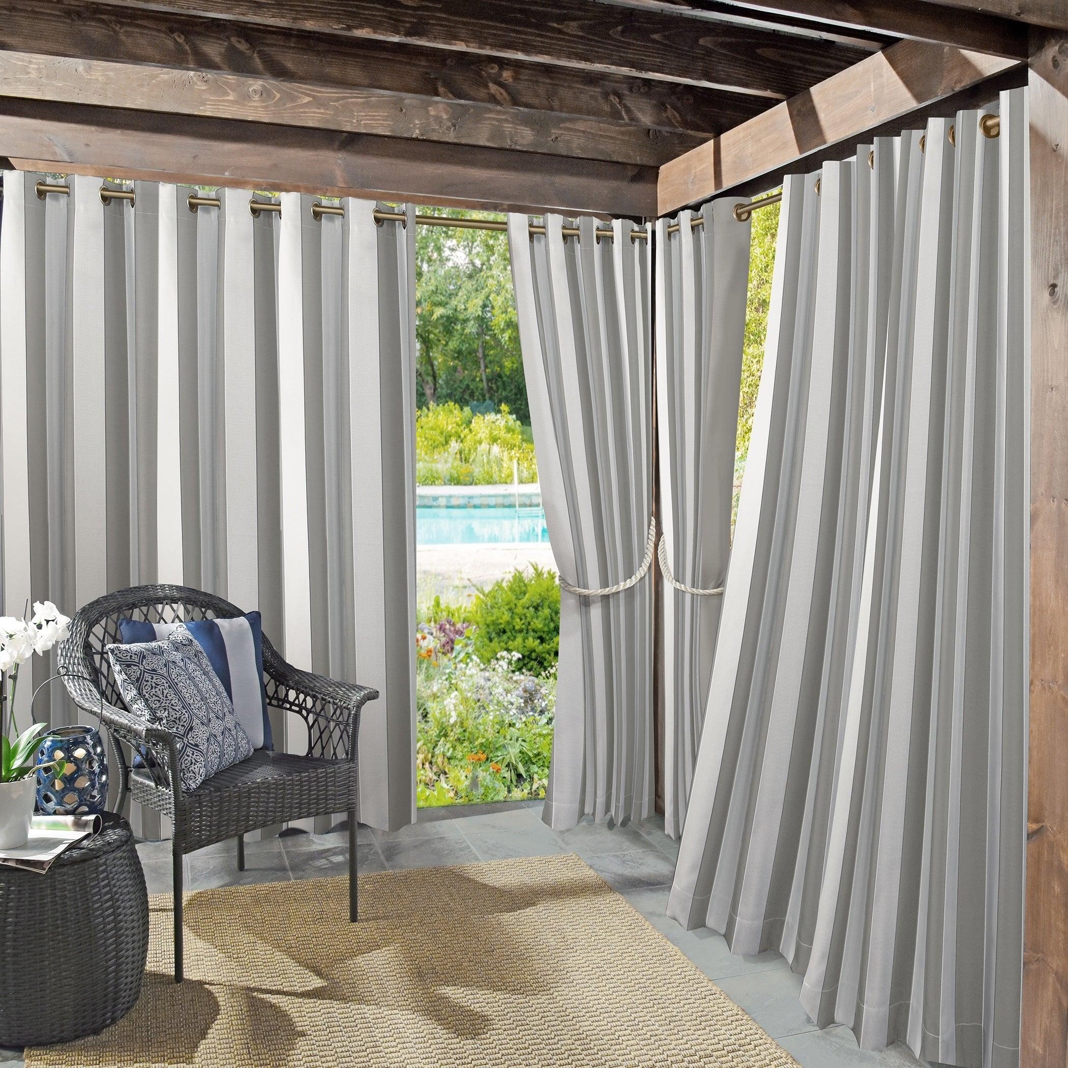 Featured Photo of Valencia Cabana Stripe Indoor/outdoor Curtain Panels