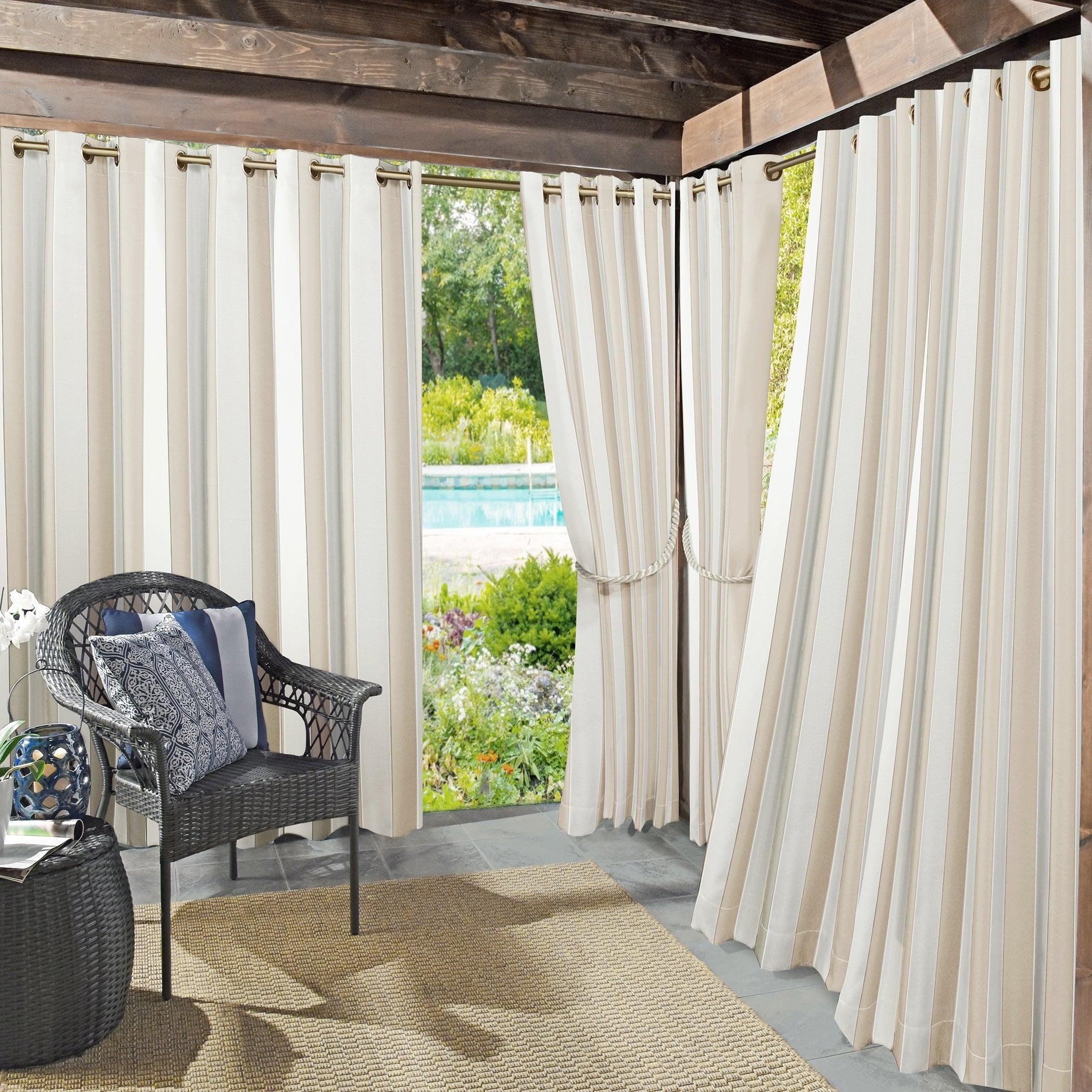 Sun Zero Valencia Cabana Stripe Indoor/outdoor Curtain Panel With Valencia Cabana Stripe Indoor/outdoor Curtain Panels (View 2 of 30)