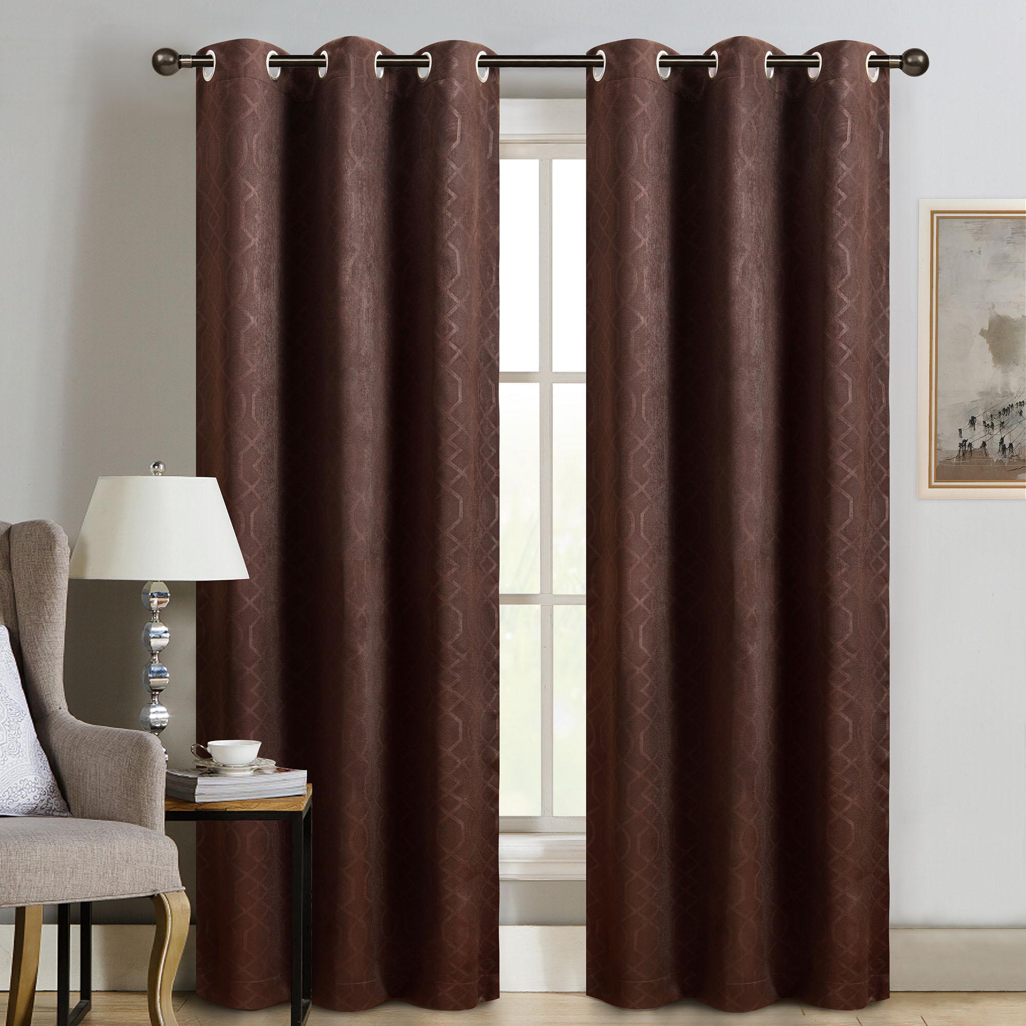 """Sun+blk Thermal Weave Embossed Blackout Grommet Single Curtain Panel 42""""x84"""" – Walmart In Embossed Thermal Weaved Blackout Grommet Drapery Curtains (View 4 of 20)"""