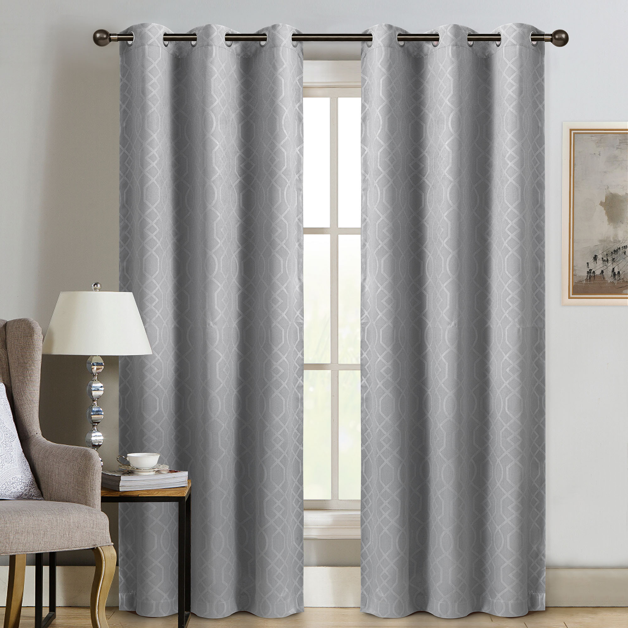 "Sun+block Thermal Weave Embossed Blackout Grommet Single Curtain Panel 42""x84"" For Embossed Thermal Weaved Blackout Grommet Drapery Curtains (View 2 of 20)"