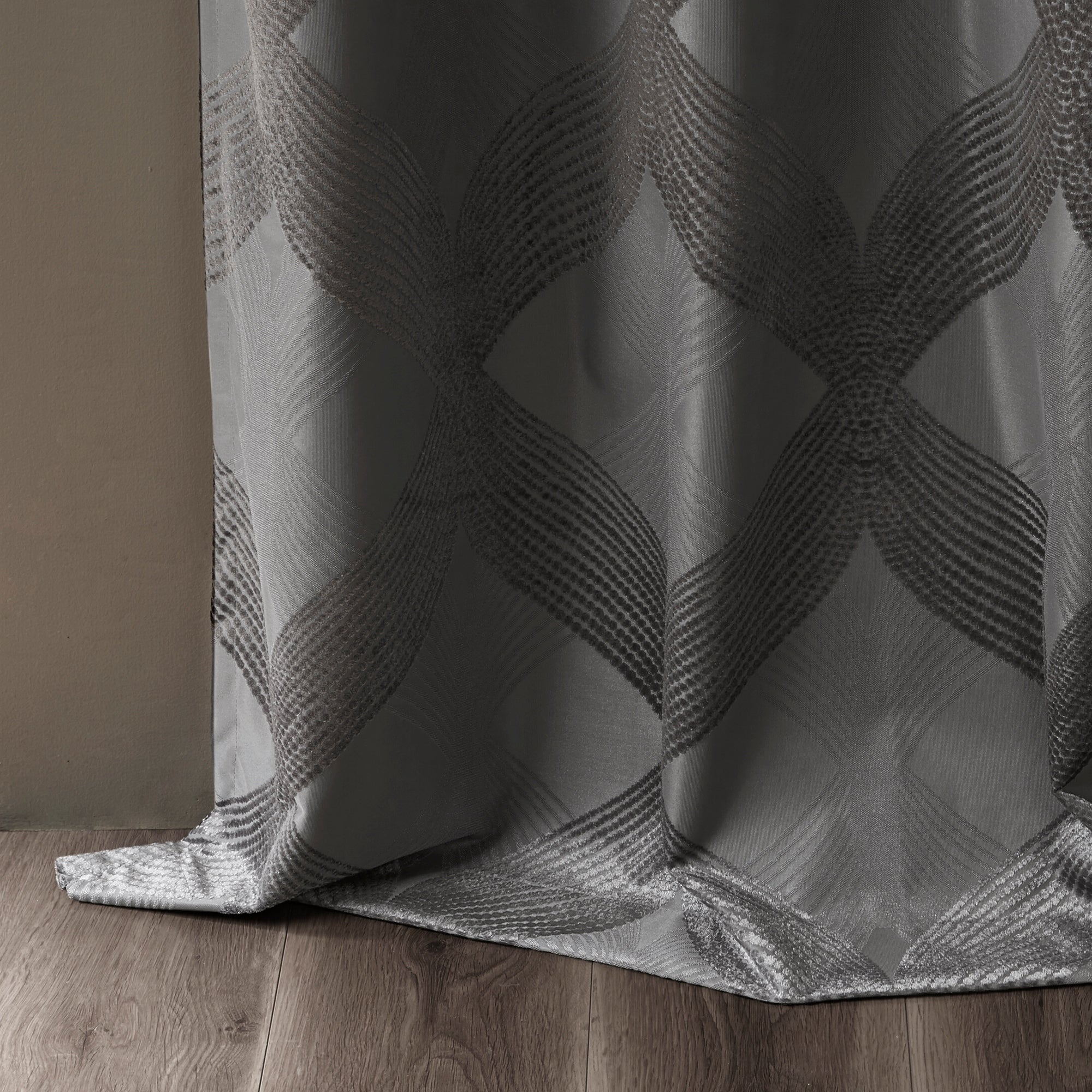 Sunsmart Abel Ogee Knitted Jacquard Total Blackout Curtain Panel With Regard To Sunsmart Abel Ogee Knitted Jacquard Total Blackout Curtain Panels (View 14 of 30)