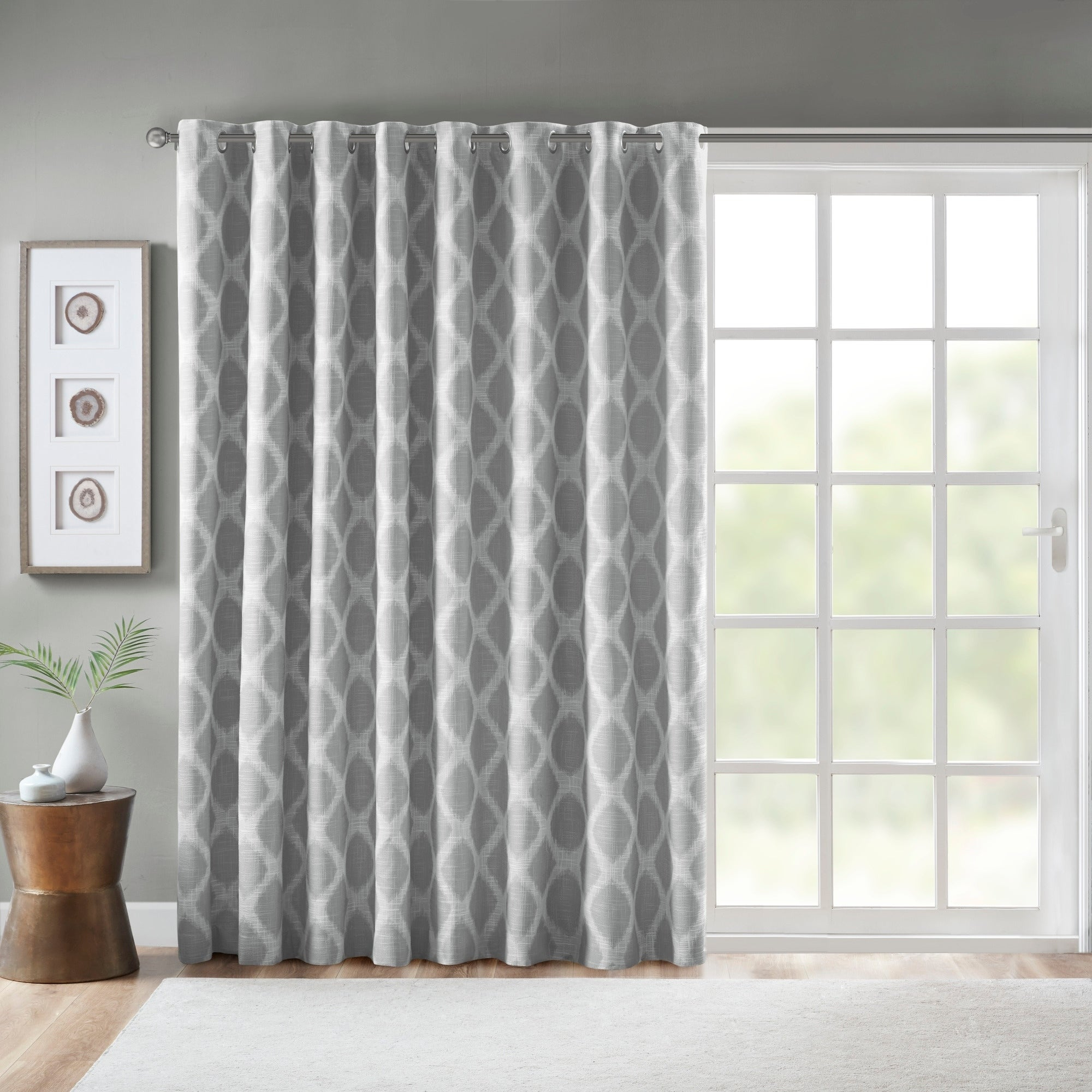 Sunsmart Kagen Printed Ikat Blackout Patio Curtain Intended For Gracewood Hollow Tucakovic Energy Efficient Fabric Blackout Curtains (View 2 of 20)