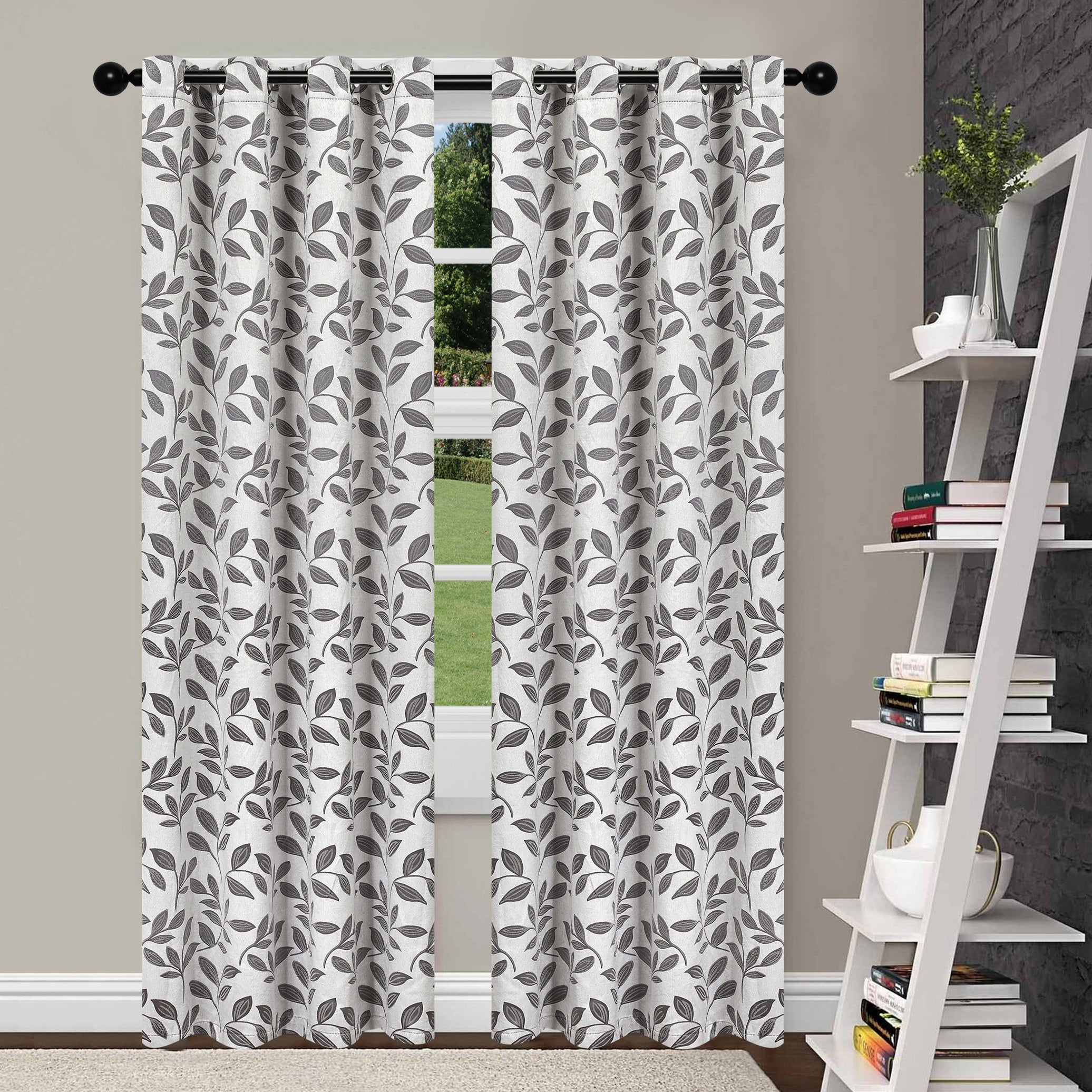 Superior Leaves Insulated Thermal Blackout Grommet Curtain Panel Pair In Superior Leaves Insulated Thermal Blackout Grommet Curtain Panel Pairs (View 2 of 30)