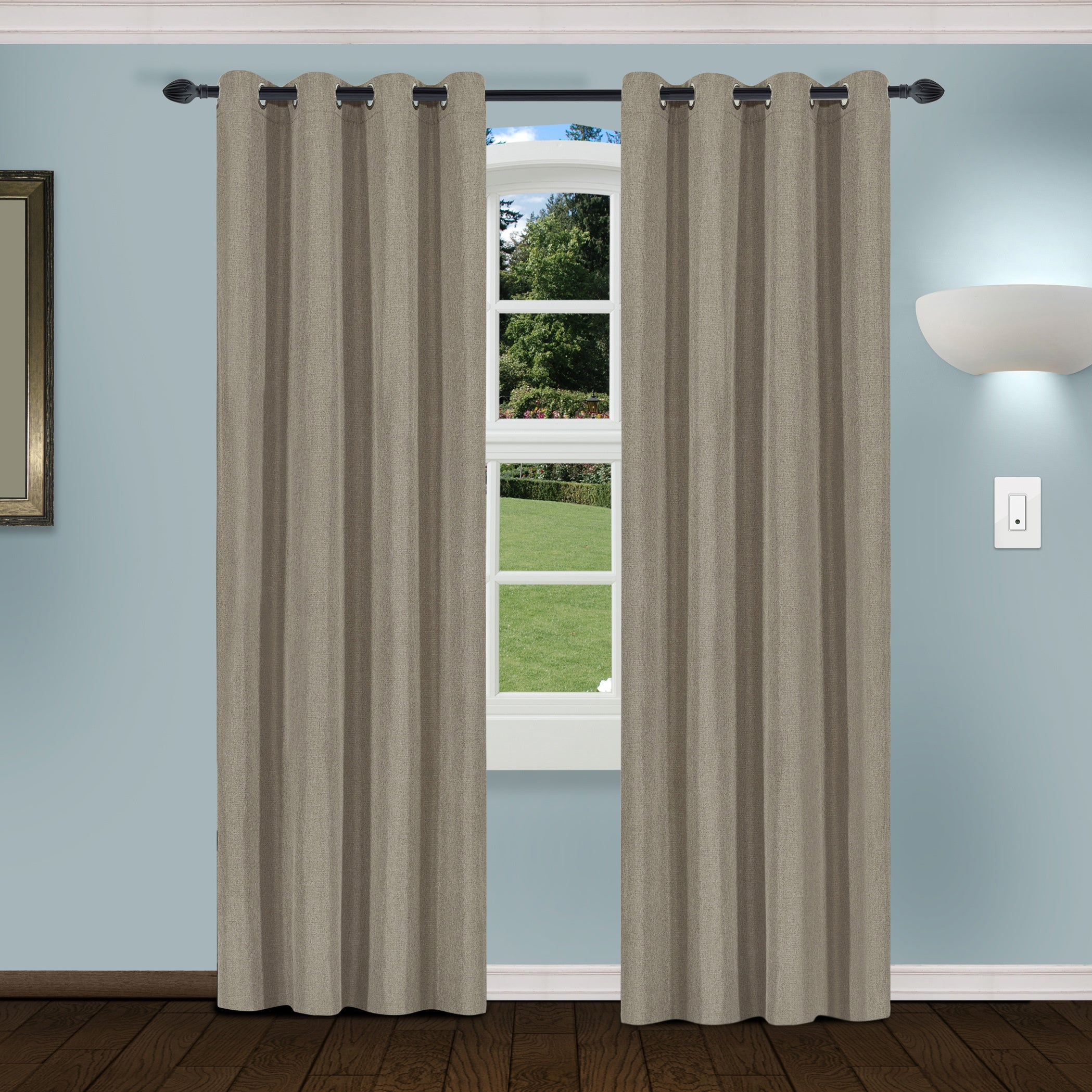 Superior Linen Insulated Thermal Blackout Grommet Curtain Panel Pair Inside Superior Solid Insulated Thermal Blackout Grommet Curtain Panel Pairs (View 6 of 30)