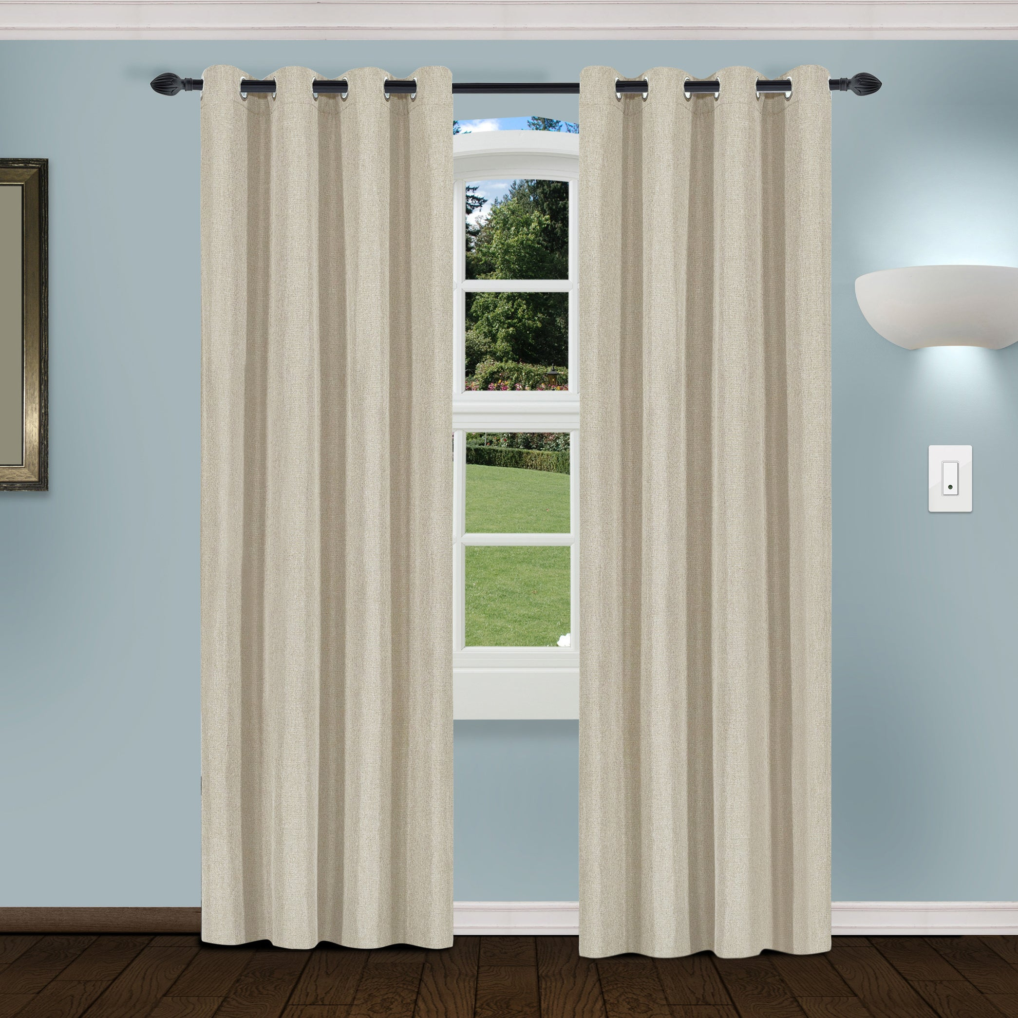 Superior Linen Insulated Thermal Blackout Grommet Curtain Panel Pair Pertaining To Superior Solid Insulated Thermal Blackout Grommet Curtain Panel Pairs (View 11 of 30)